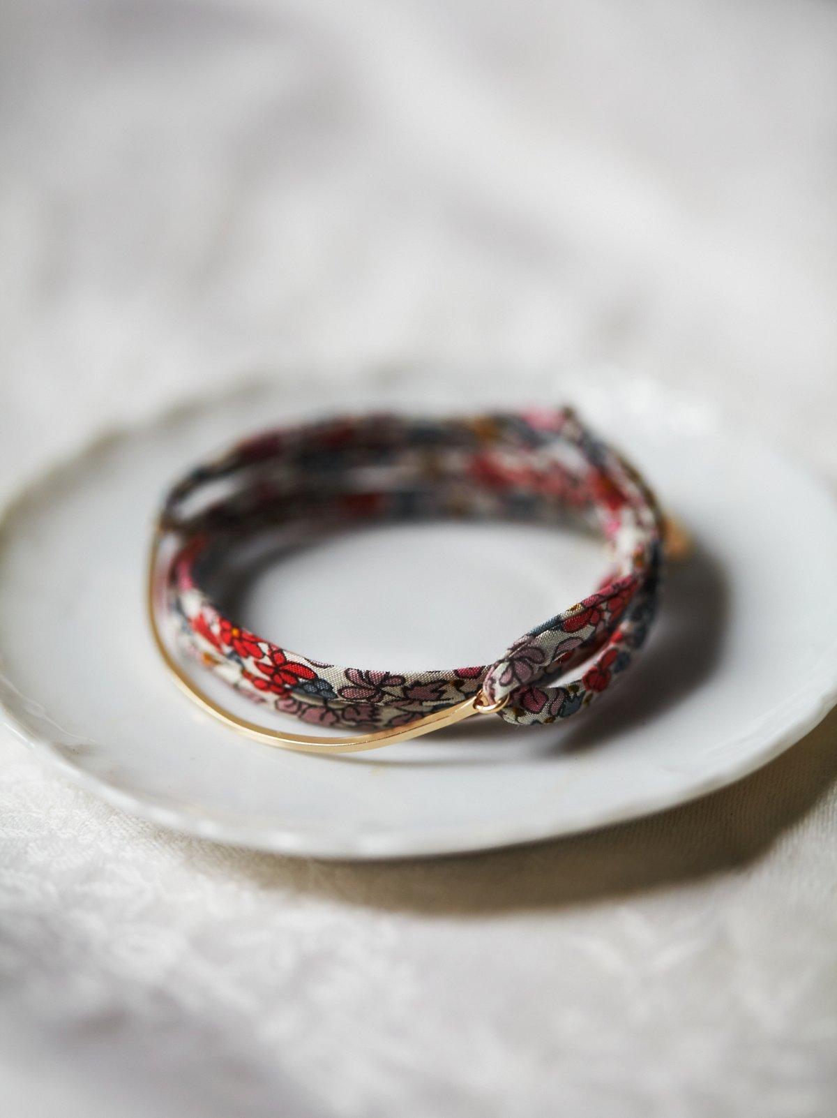 复古织物手链