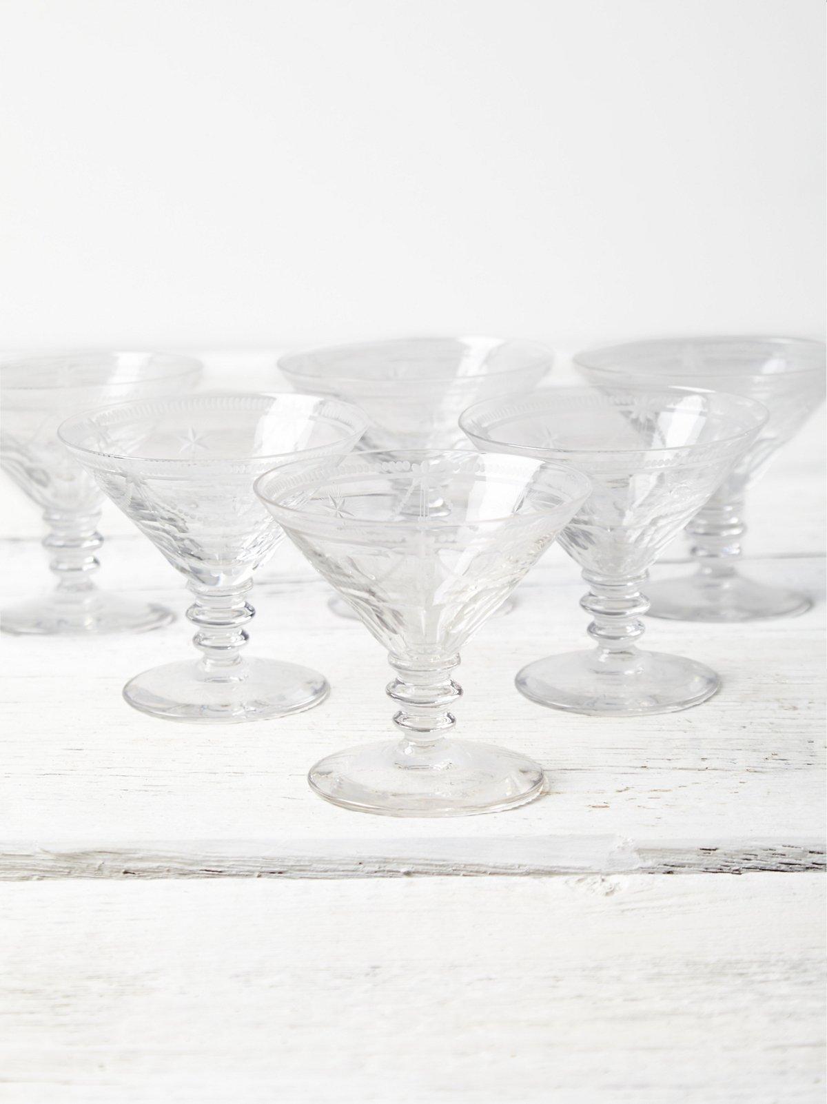 Vintage Champagne Glass Set