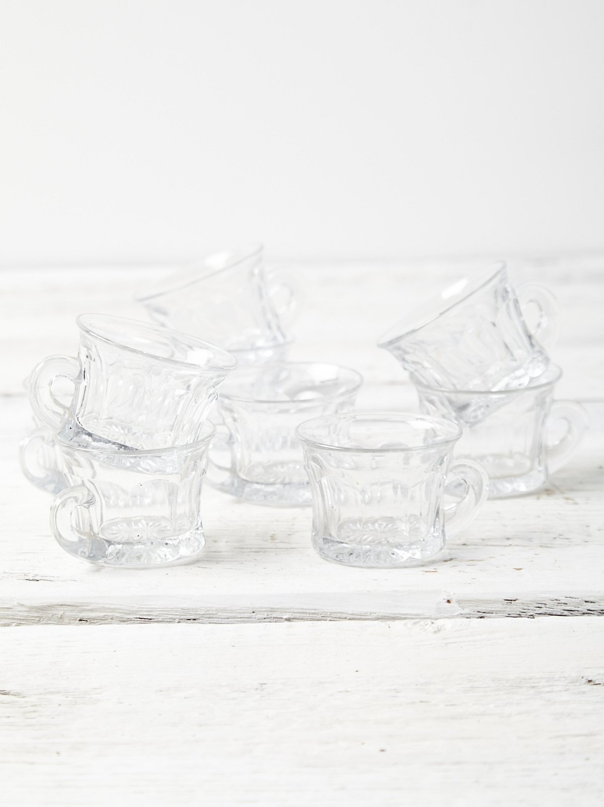 Vintage Crystal Cup Set