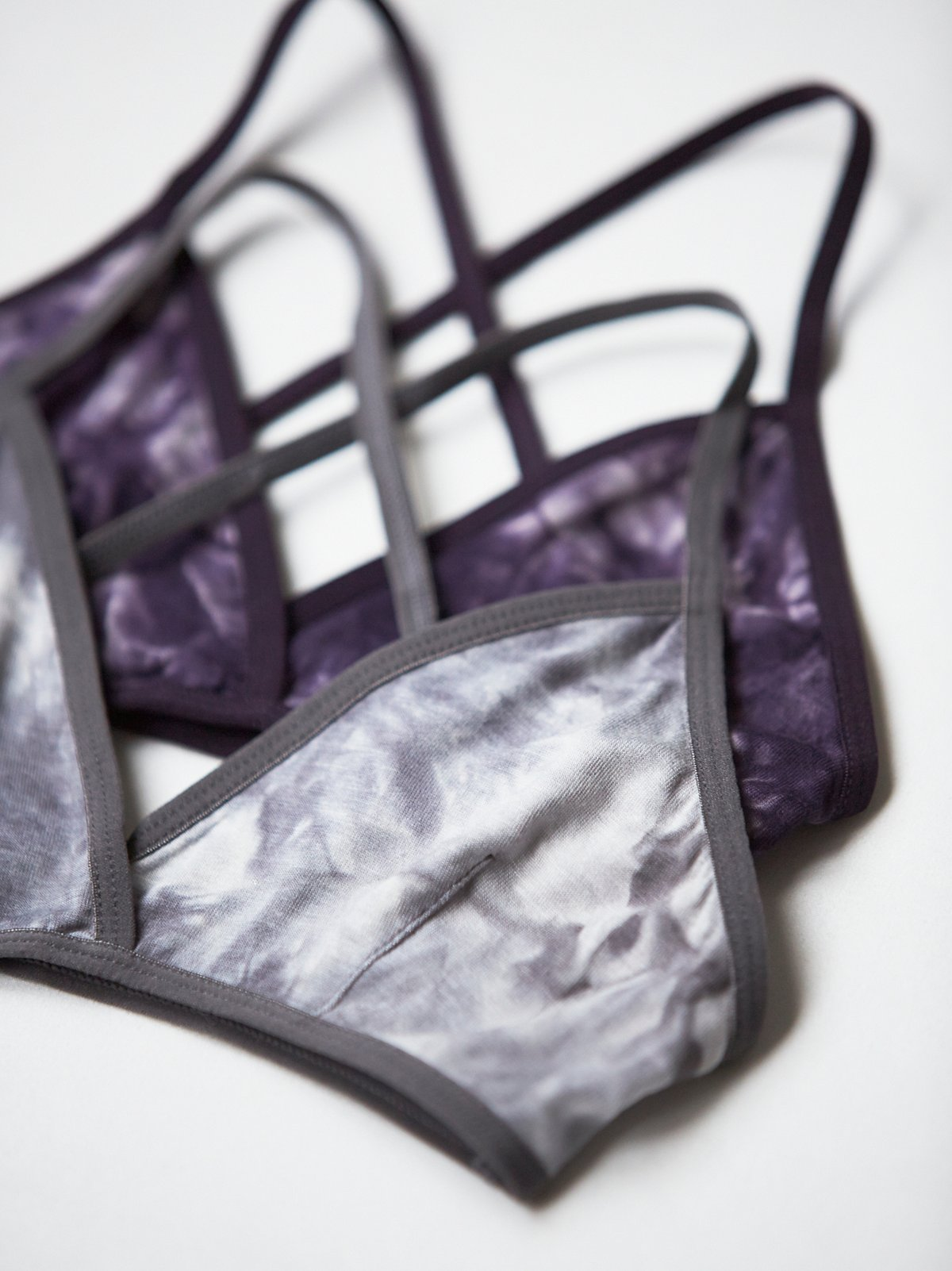 Printed Triangle Bralette Tie Dye