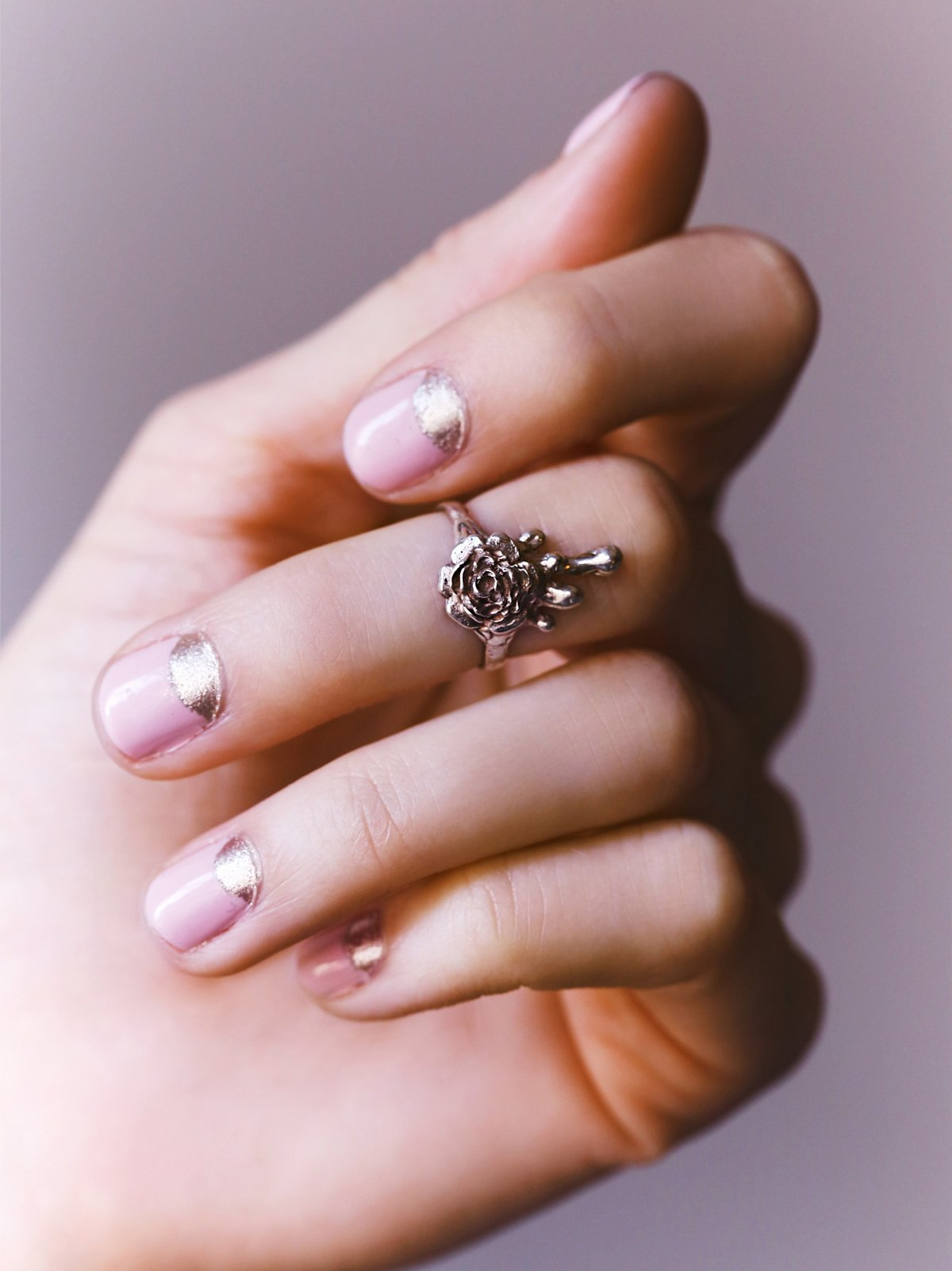 Melting Rose Midi Ring