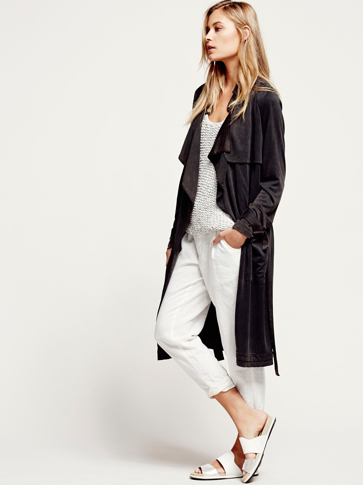 Knit Trench Coat