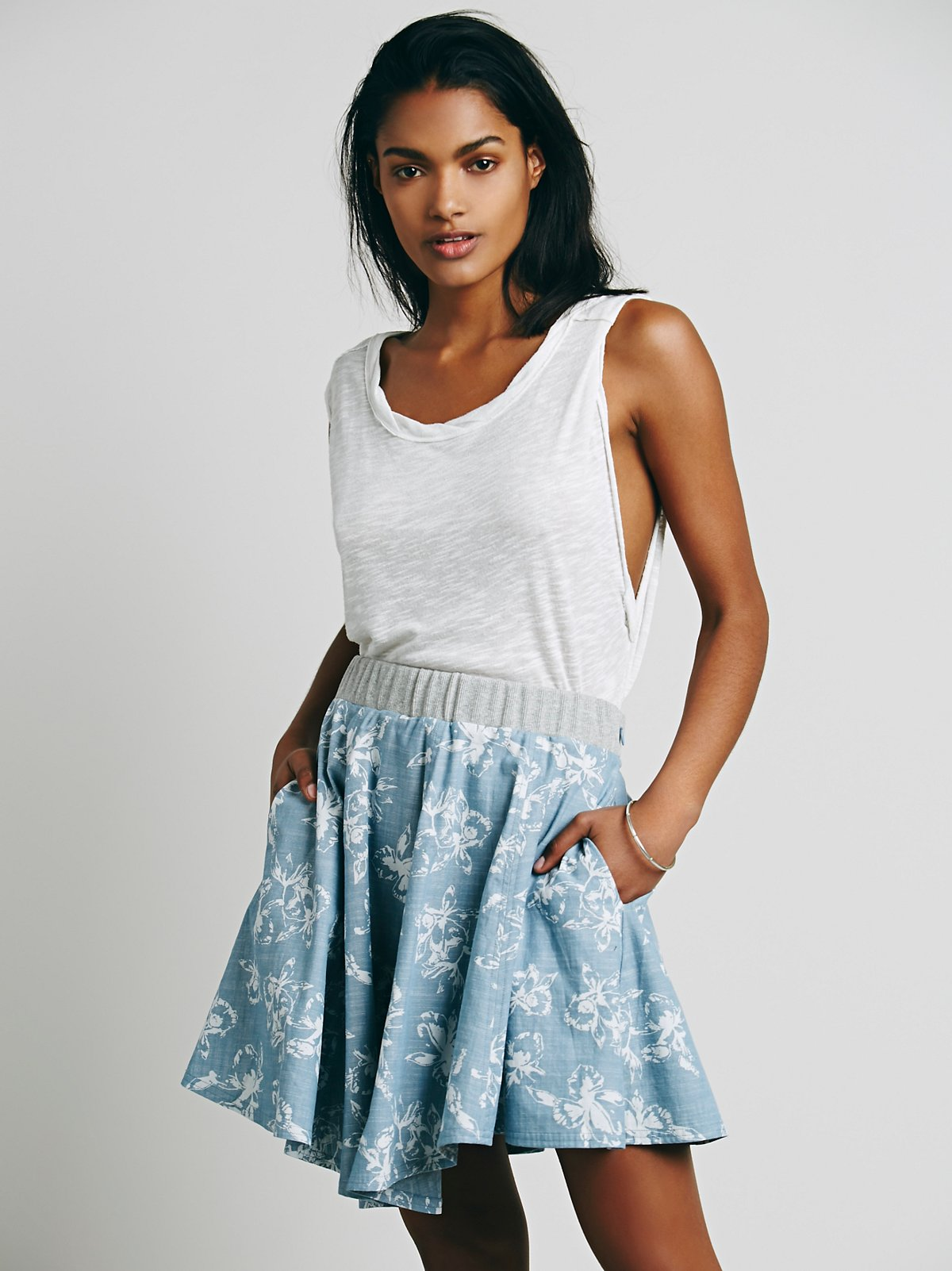 Coconut Grove Print Skirt