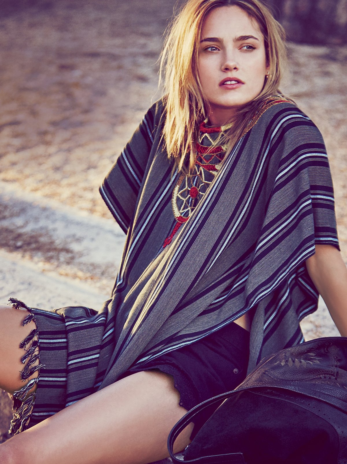 Carmen Embroidered Poncho