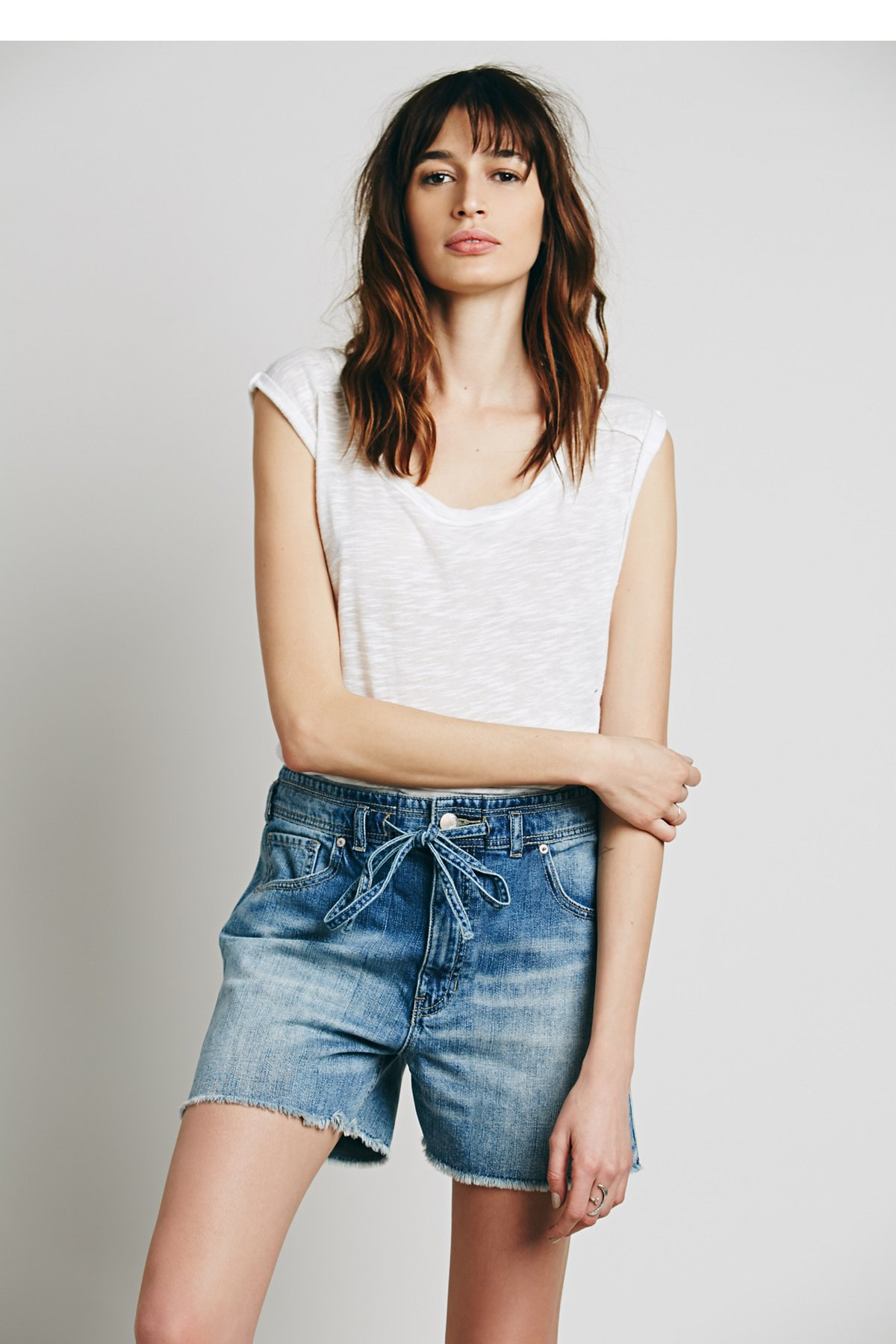 High Rise Belted Short