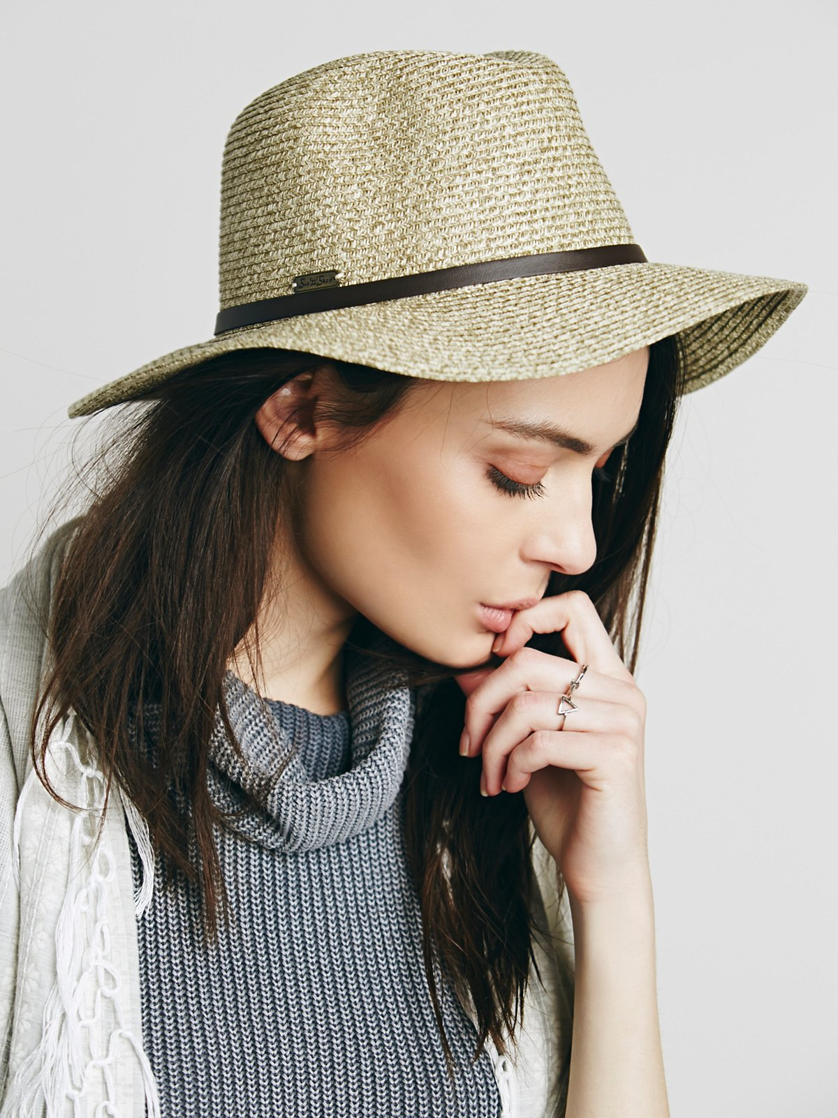 Herringbone Straw Hat
