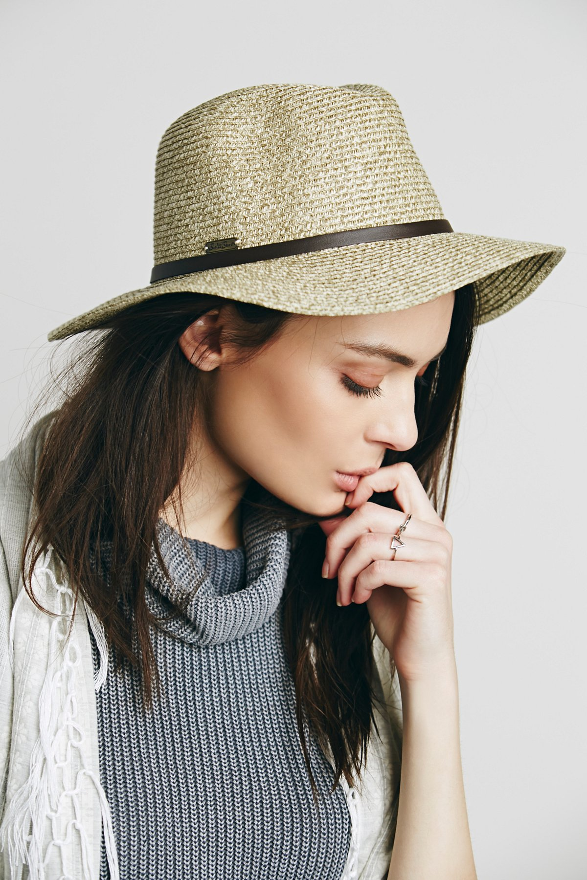 Herringbone Straw Hat