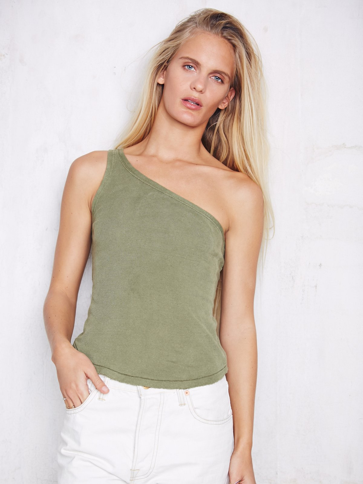 We The Free One Shoulder Rib Tank