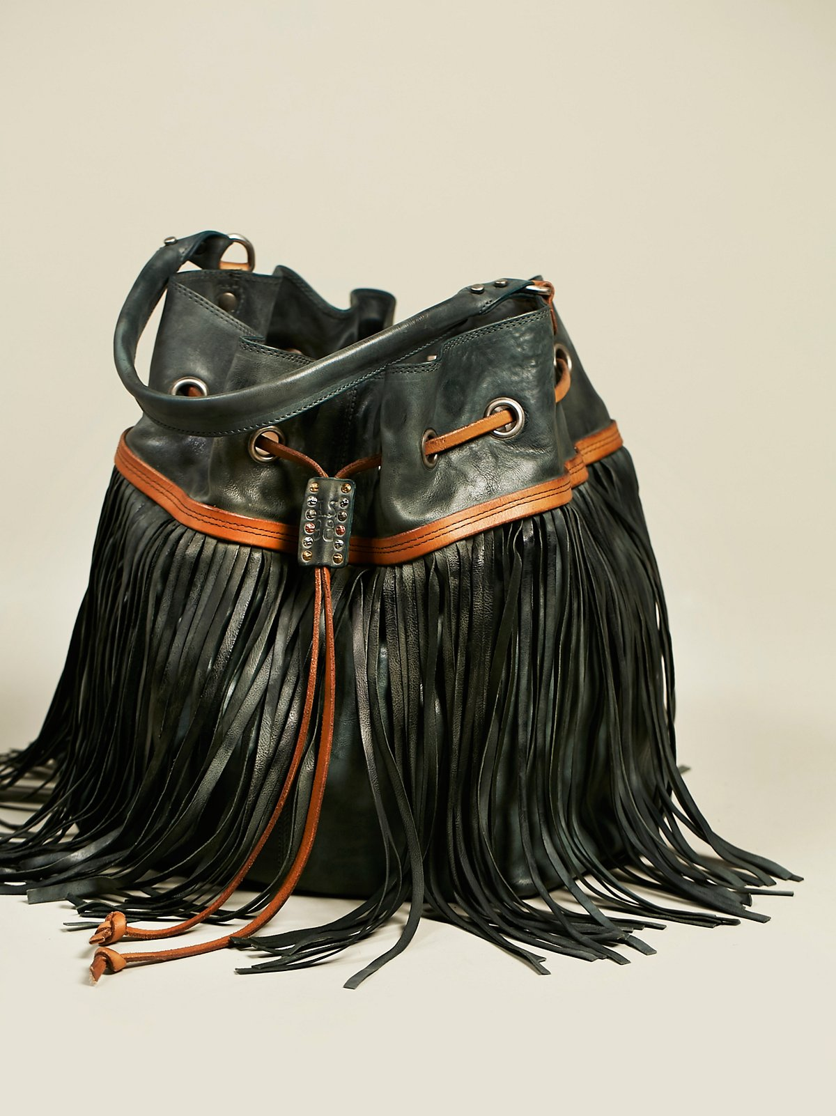 Amelie Fringed Bucket
