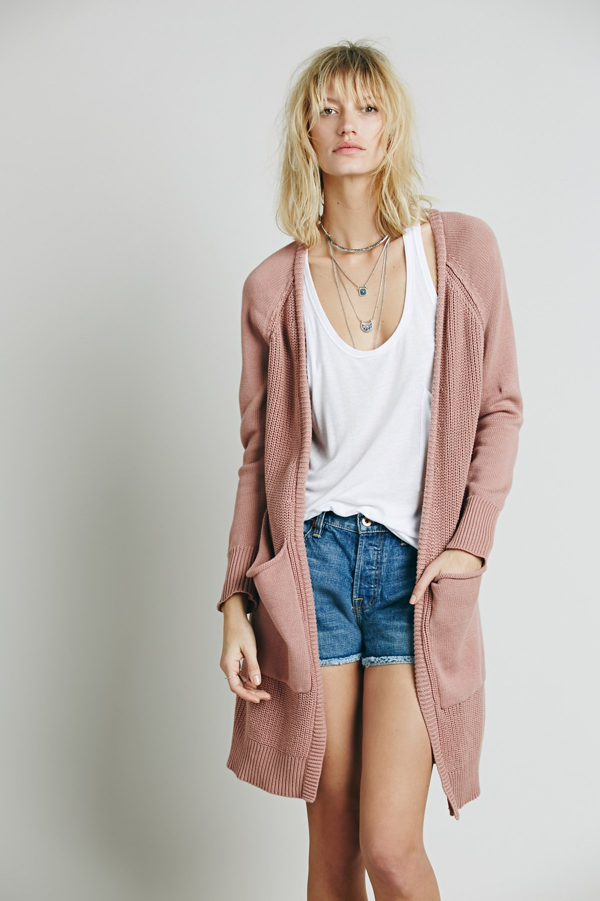 Long Two Pocket Cardigan