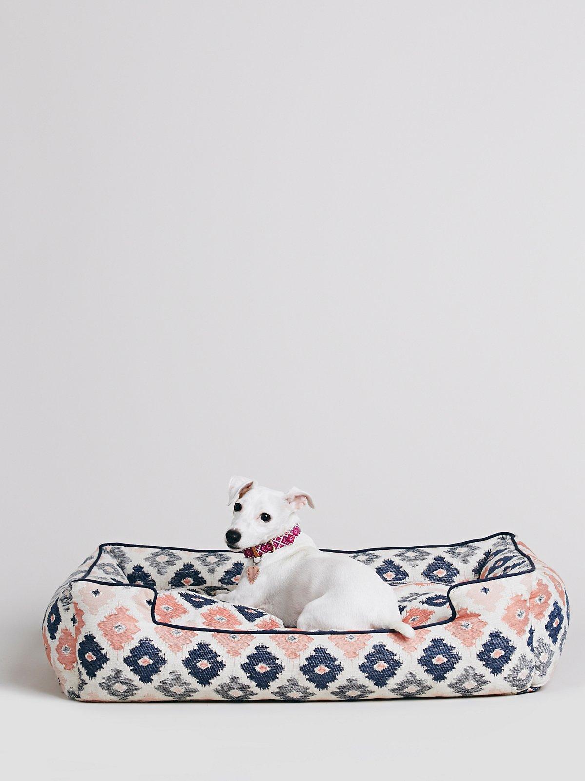 Geo Print Dog Bed