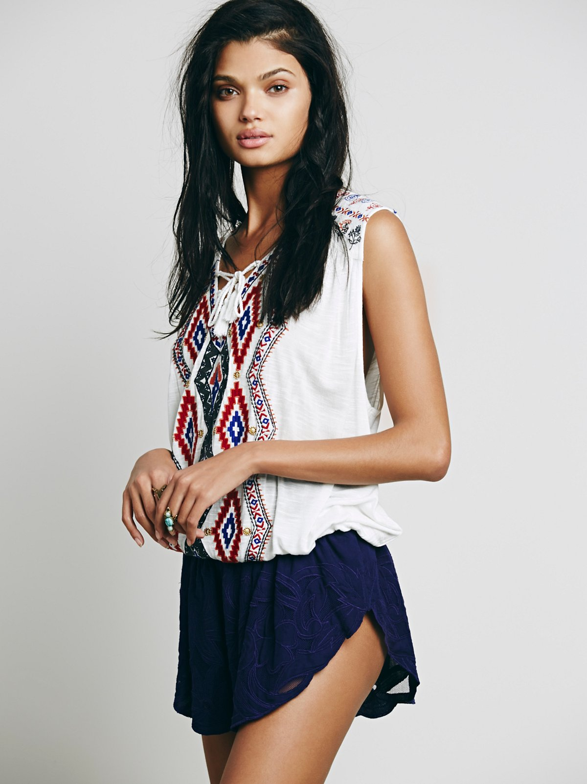 Salt Water纹理短裤