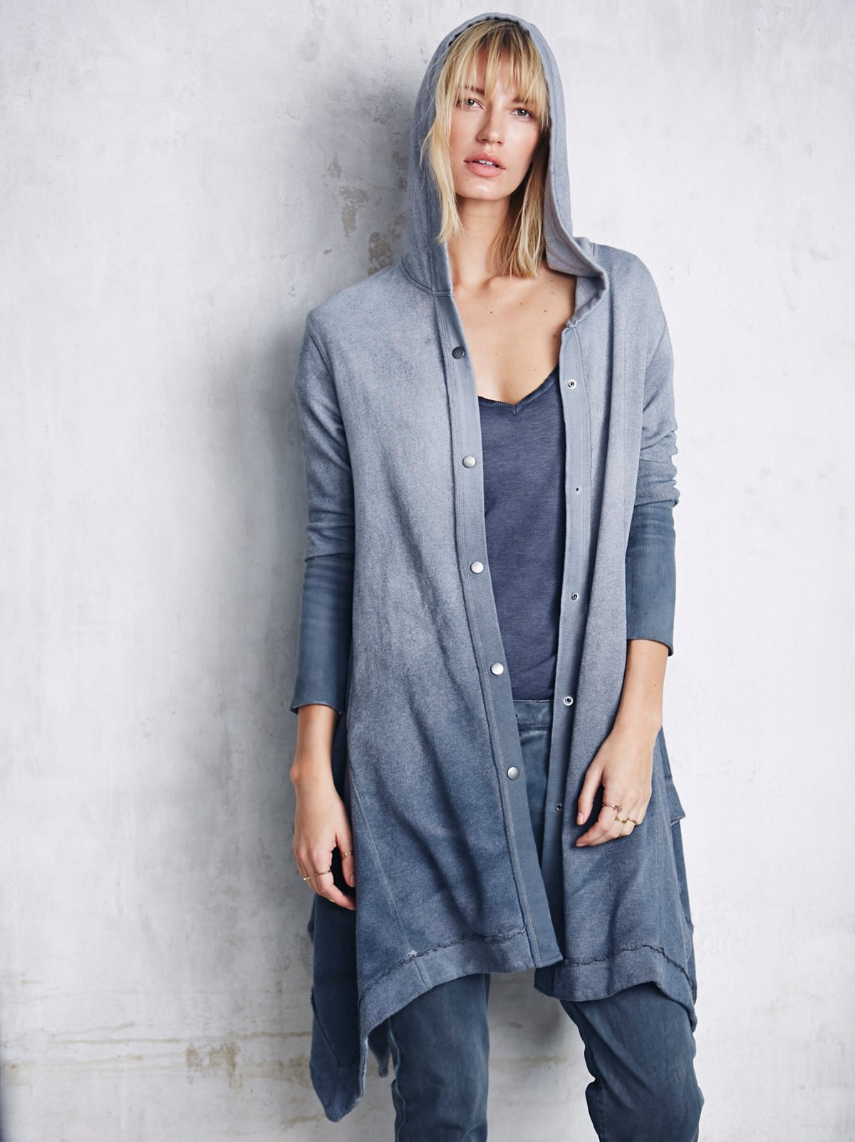 Washed Maxi Cardigan