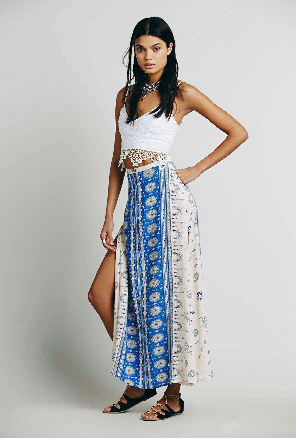 Coyote Split Maxi Skirt