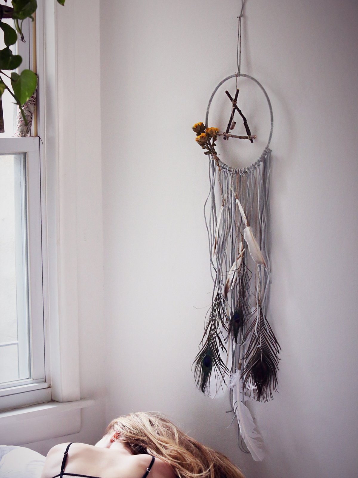 Large Floral Dreamcatcher
