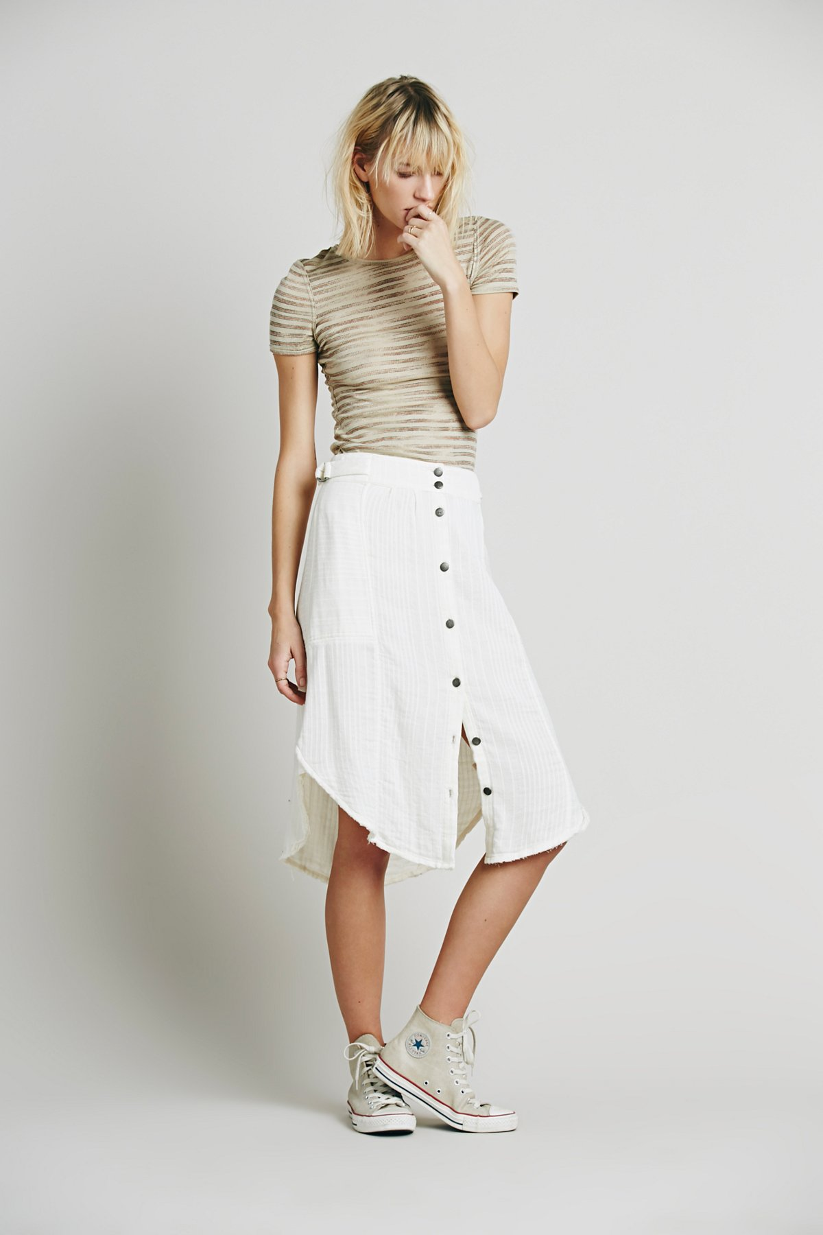 Solid Train of Love Skirt