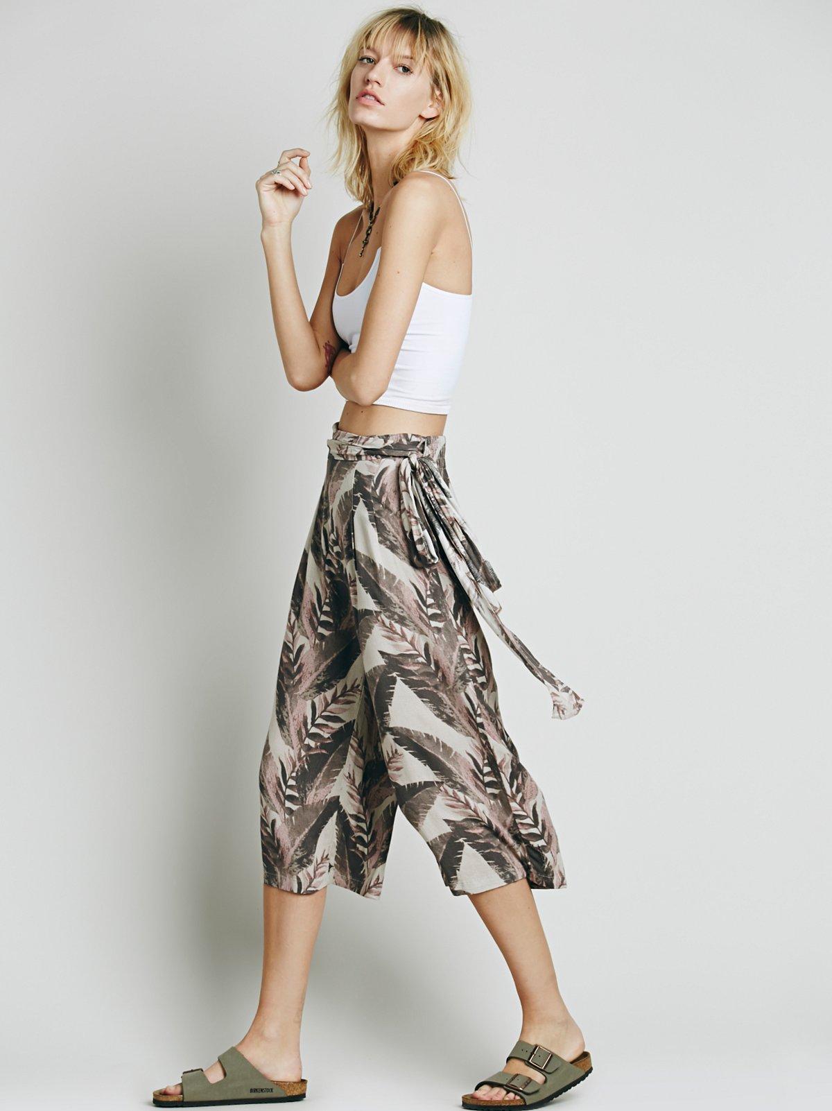 Rayon高腰裙裤