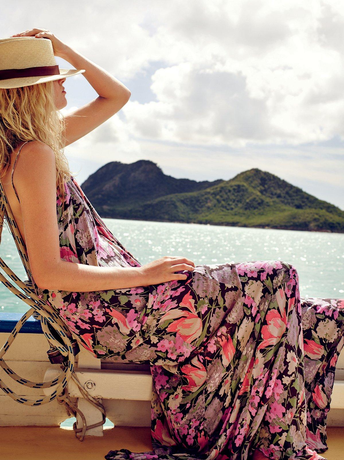 FP ONE细带花朵及踝长裙