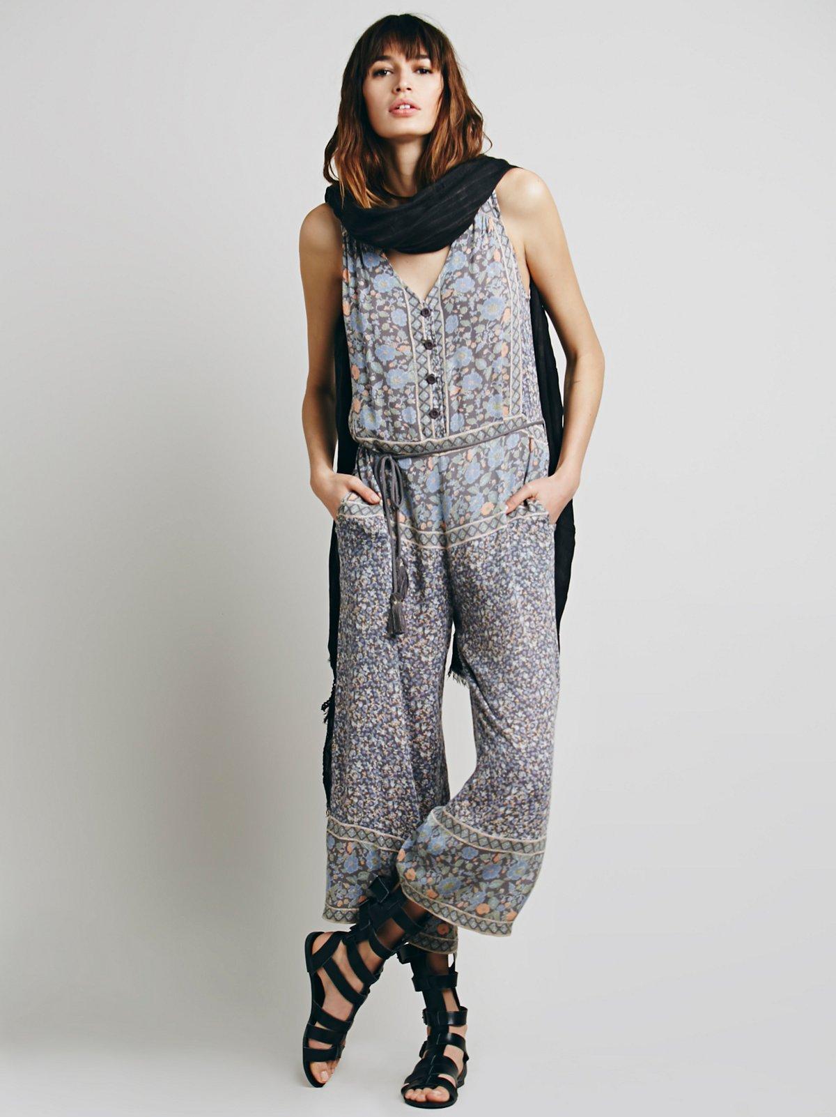 印花裙裤1件