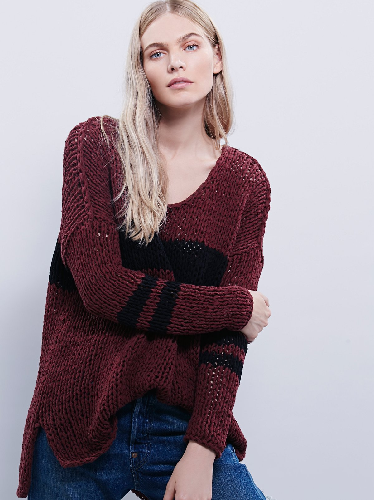 Striped At The Seams Pullover