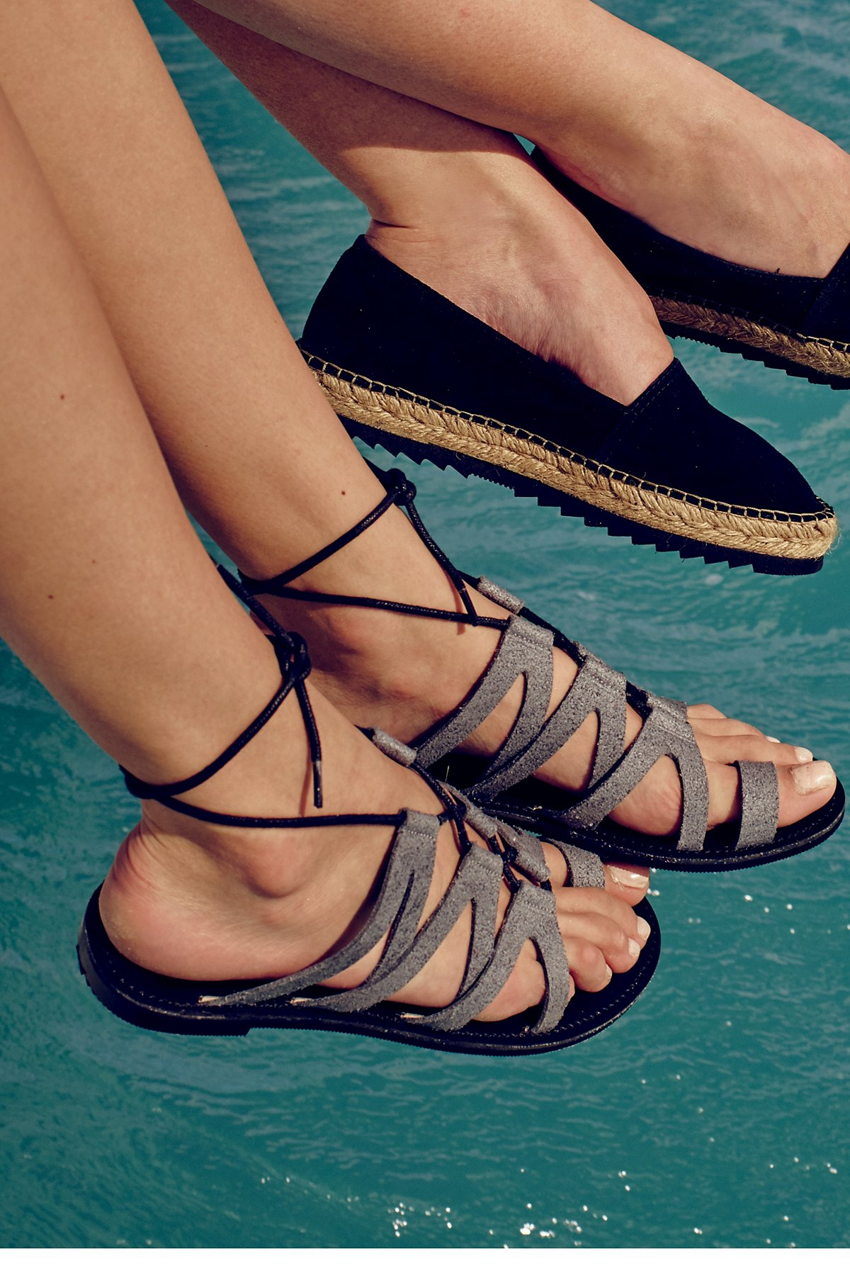 Vegan Gemma Lace Up Sandal