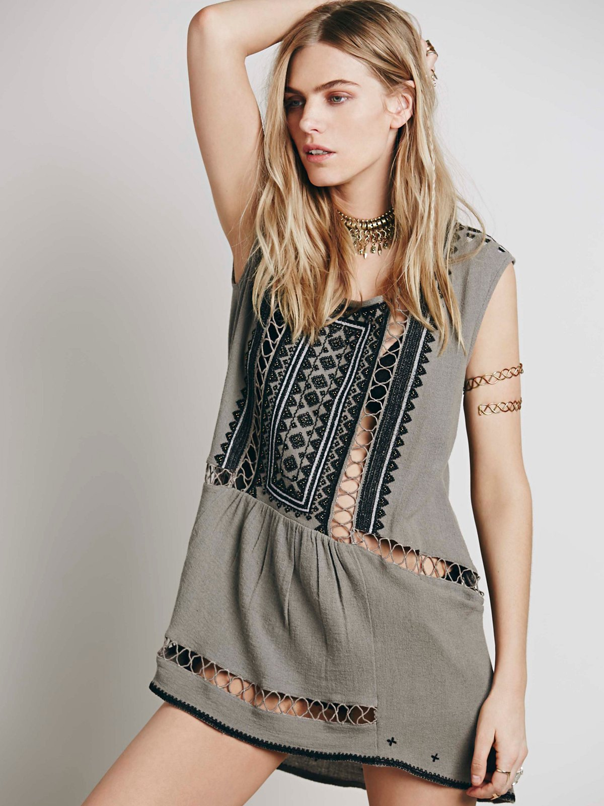 Sleeveless Embroidered Tunic