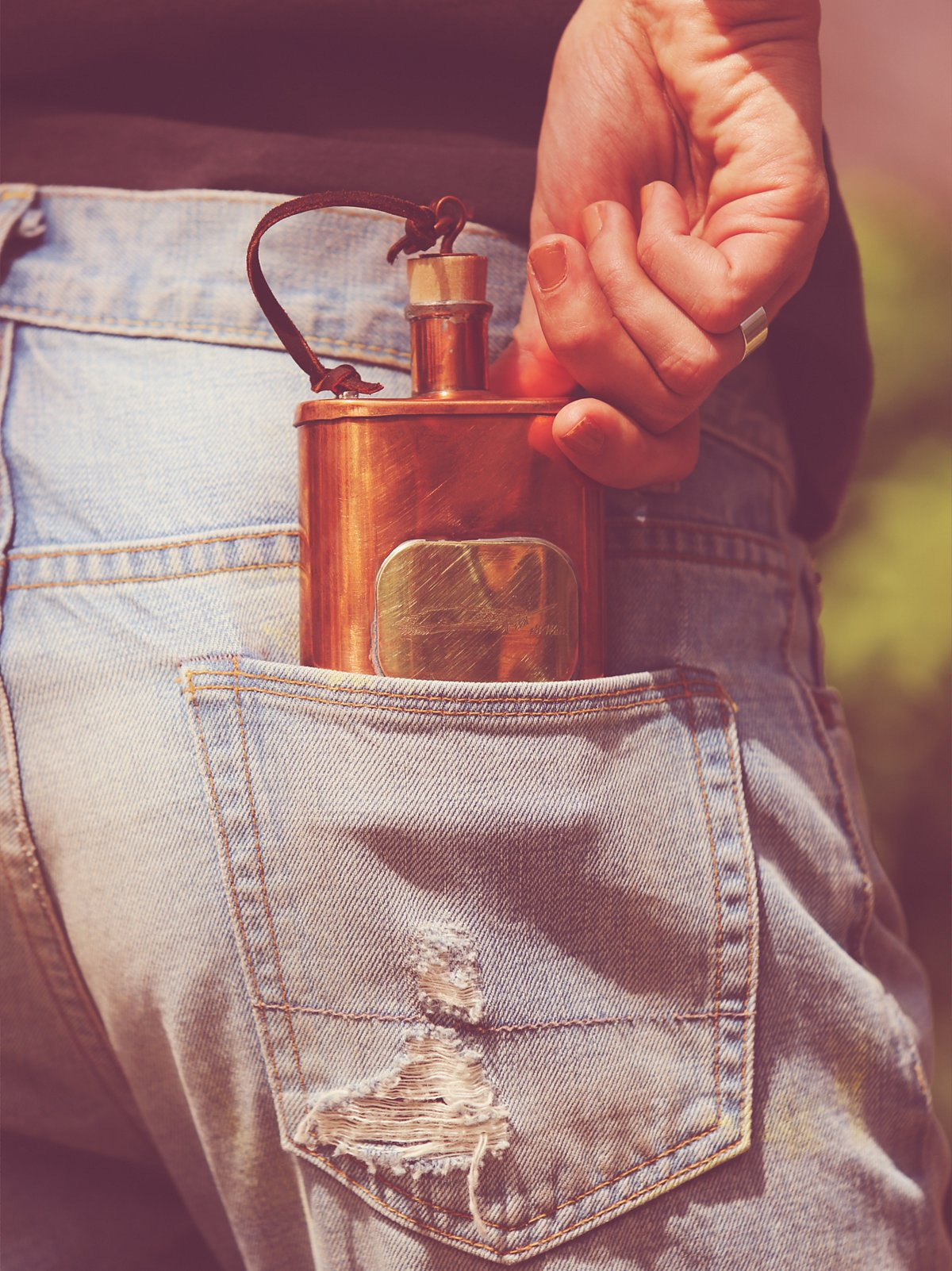 Whisky River Flask