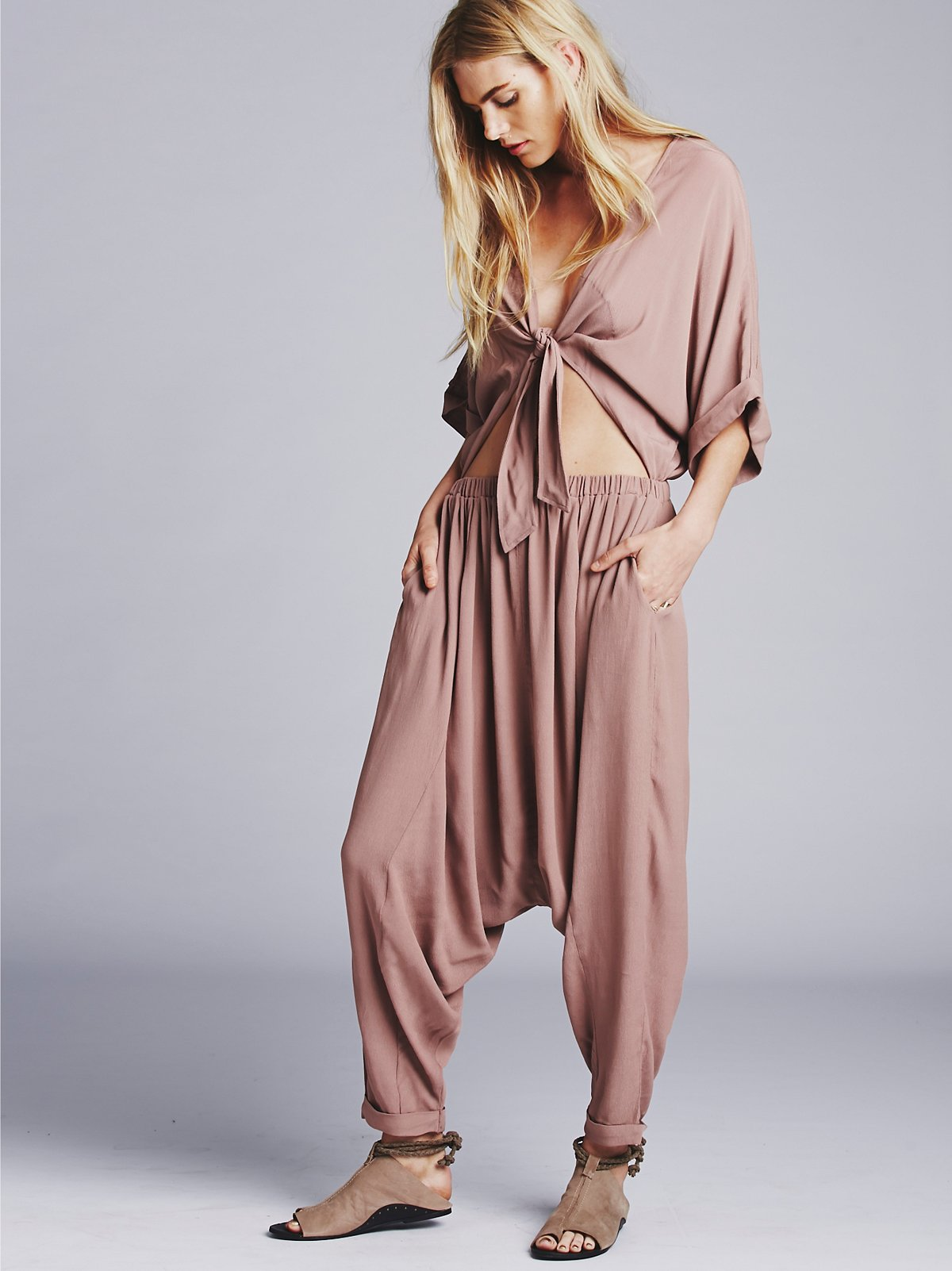 Washed Crepe Dune Onesie