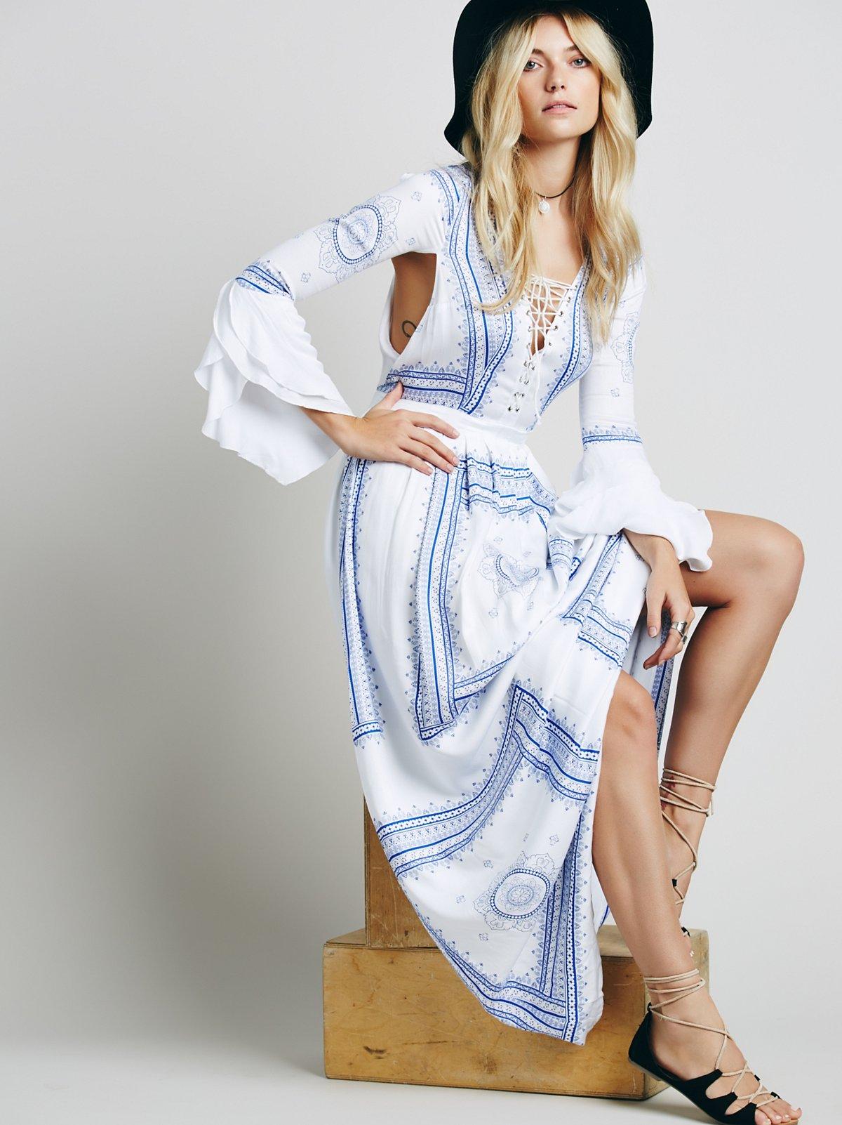 Santorini连衣裙