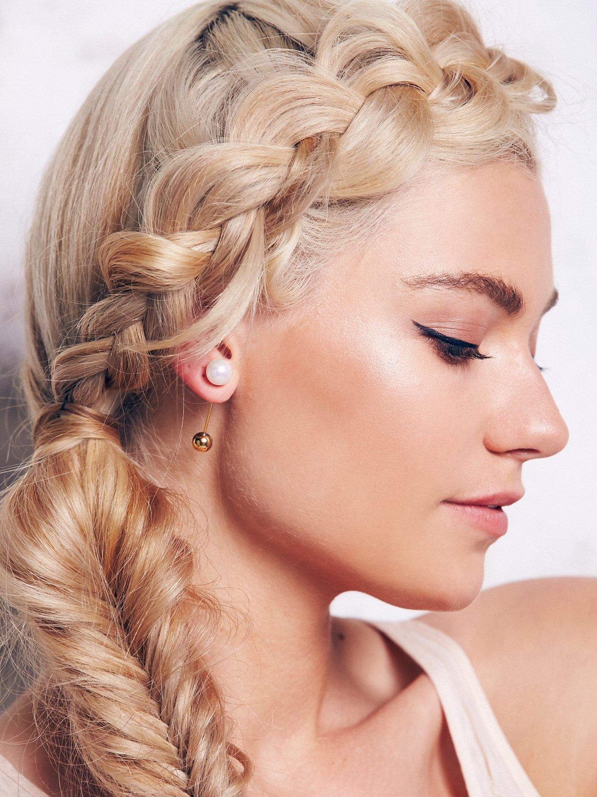 Bar Pearl Earring