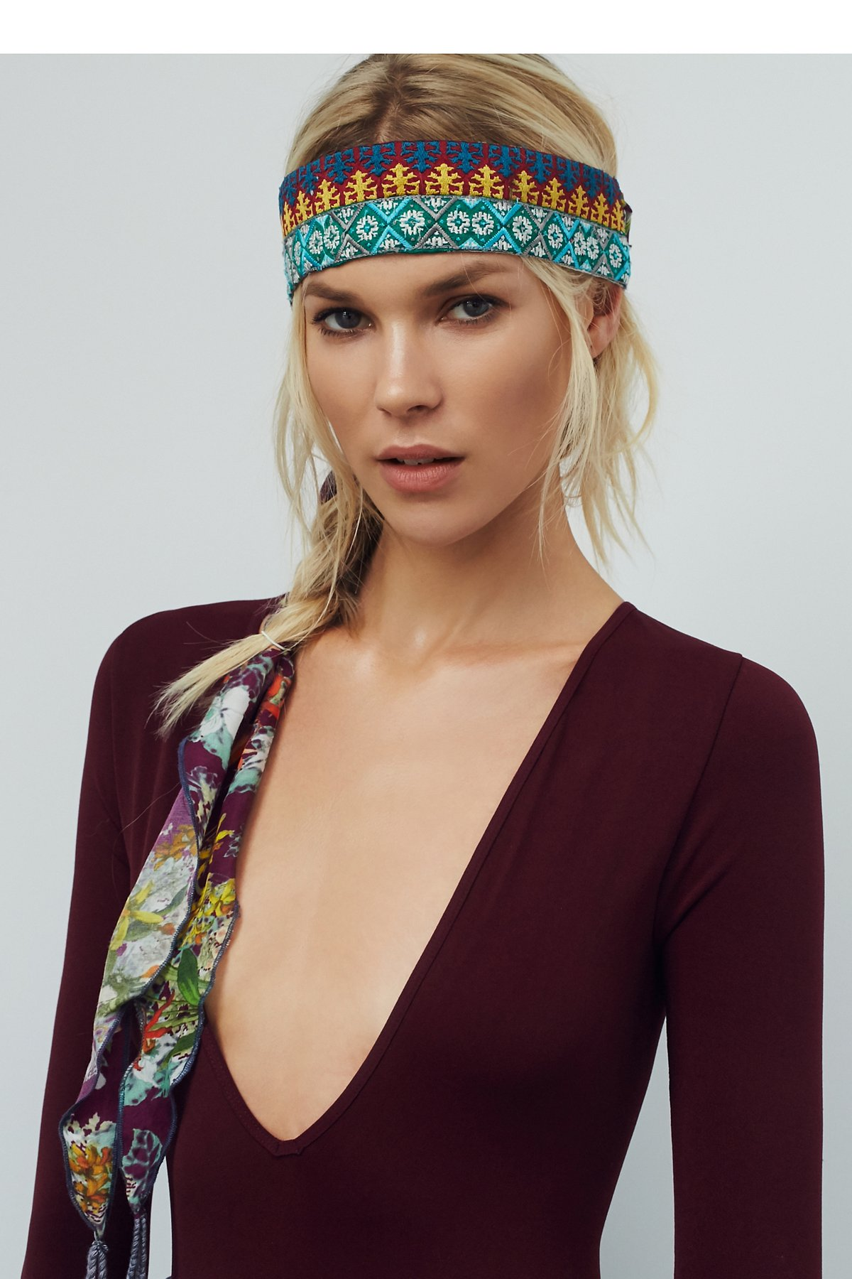 Embroidered Head Scarf