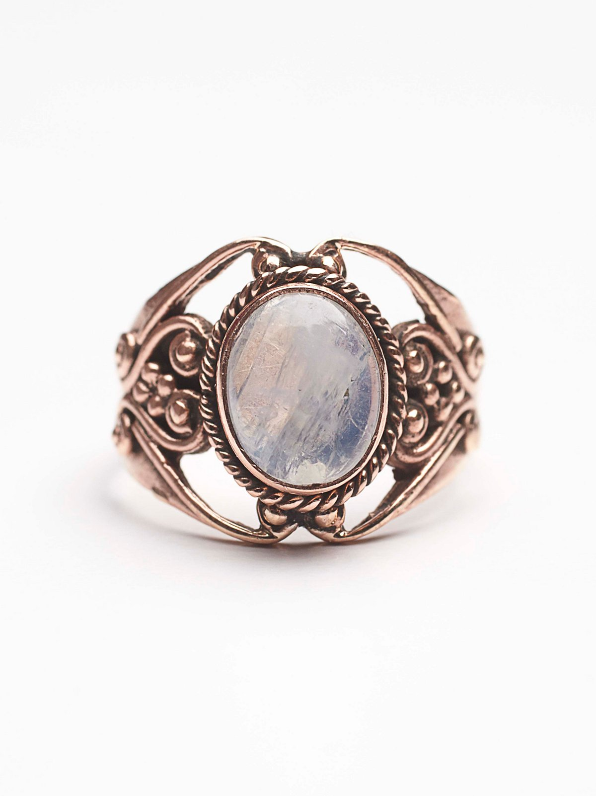 Moonstone Engraved Ring