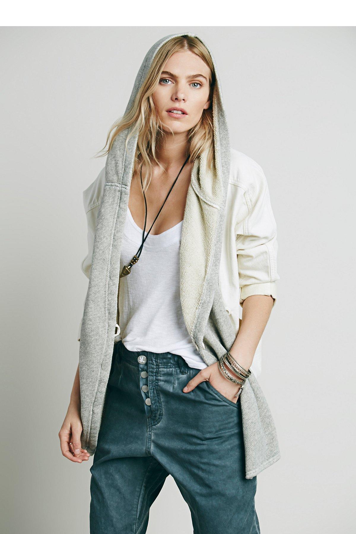 针织混色宽松夹克
