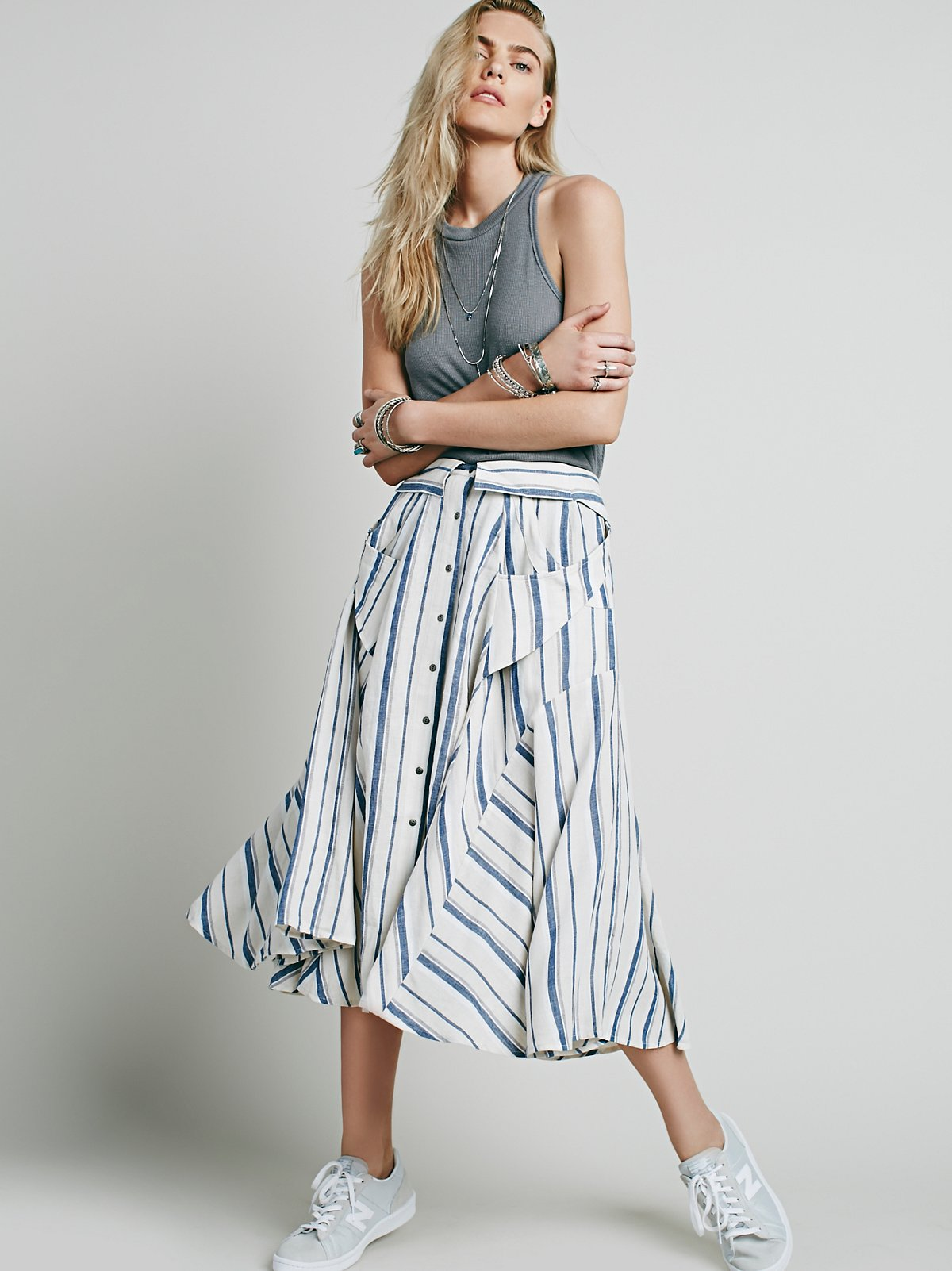 Boardwalk Babe Midi Skirt