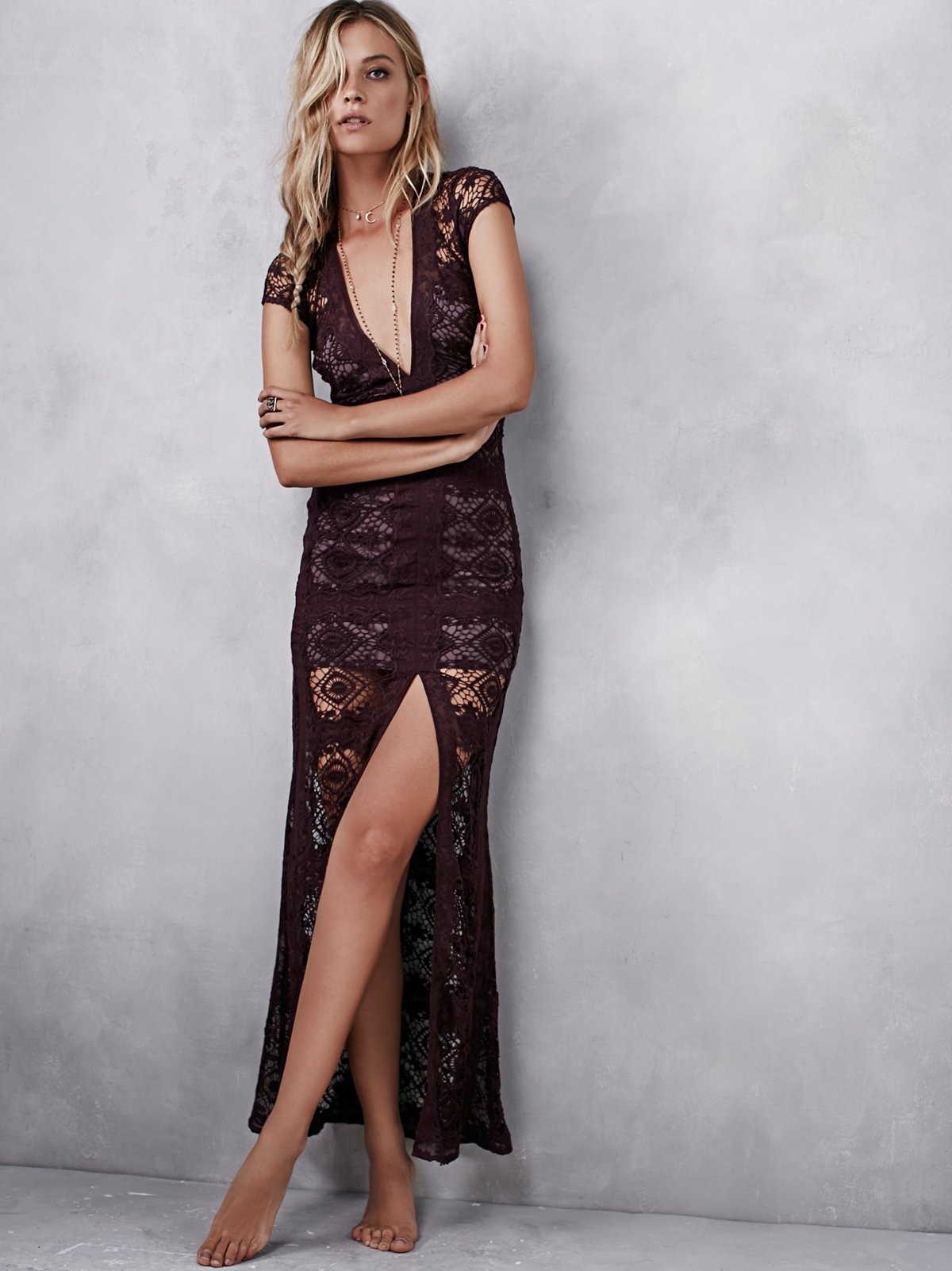 Mariposa及踝连衣裙