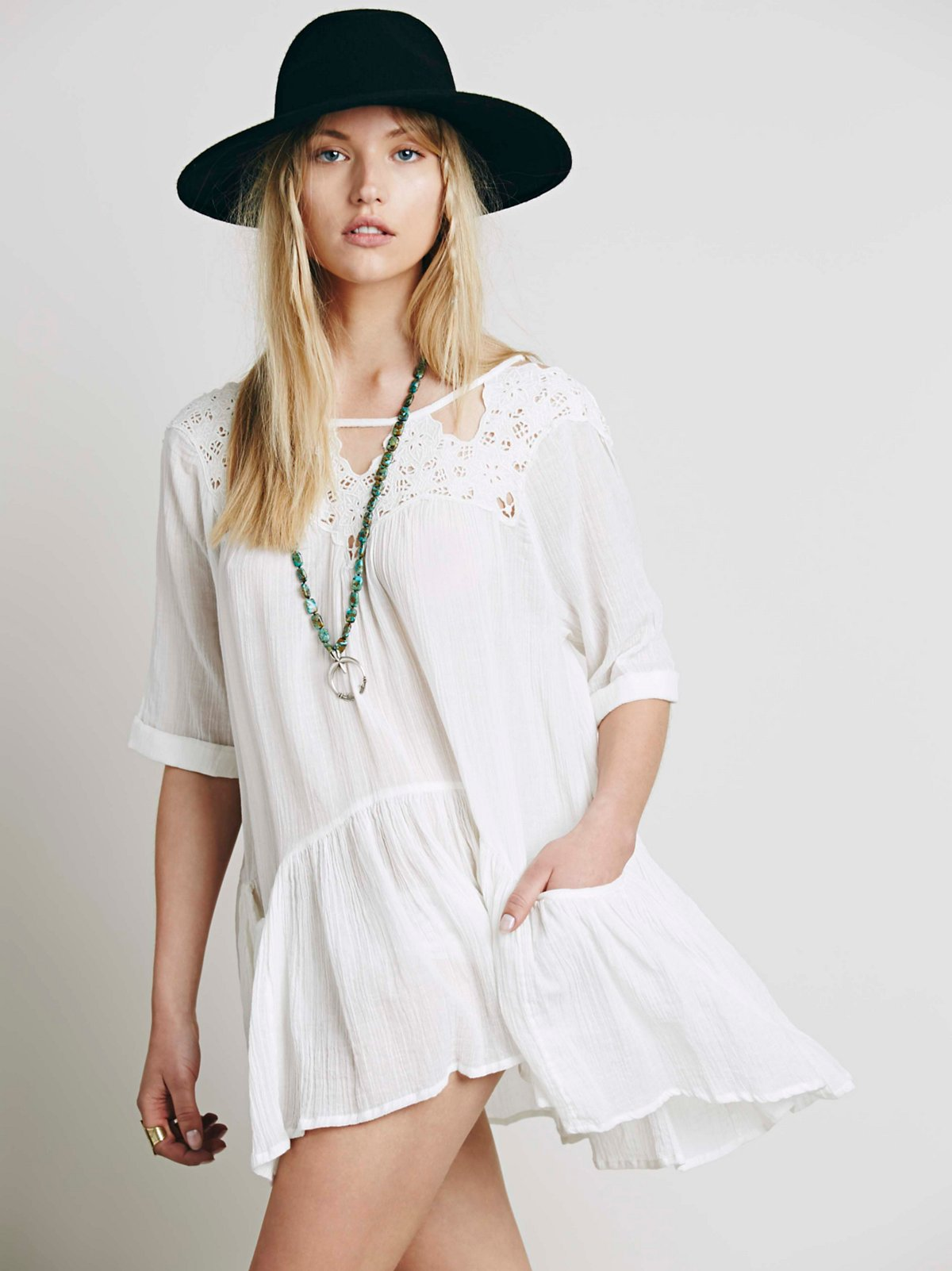 Candy Cutwork Pocket Tunic