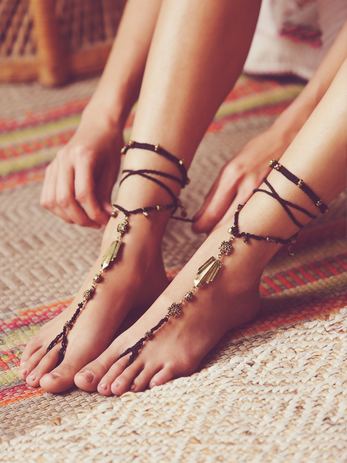 Macrame Anklet Duo