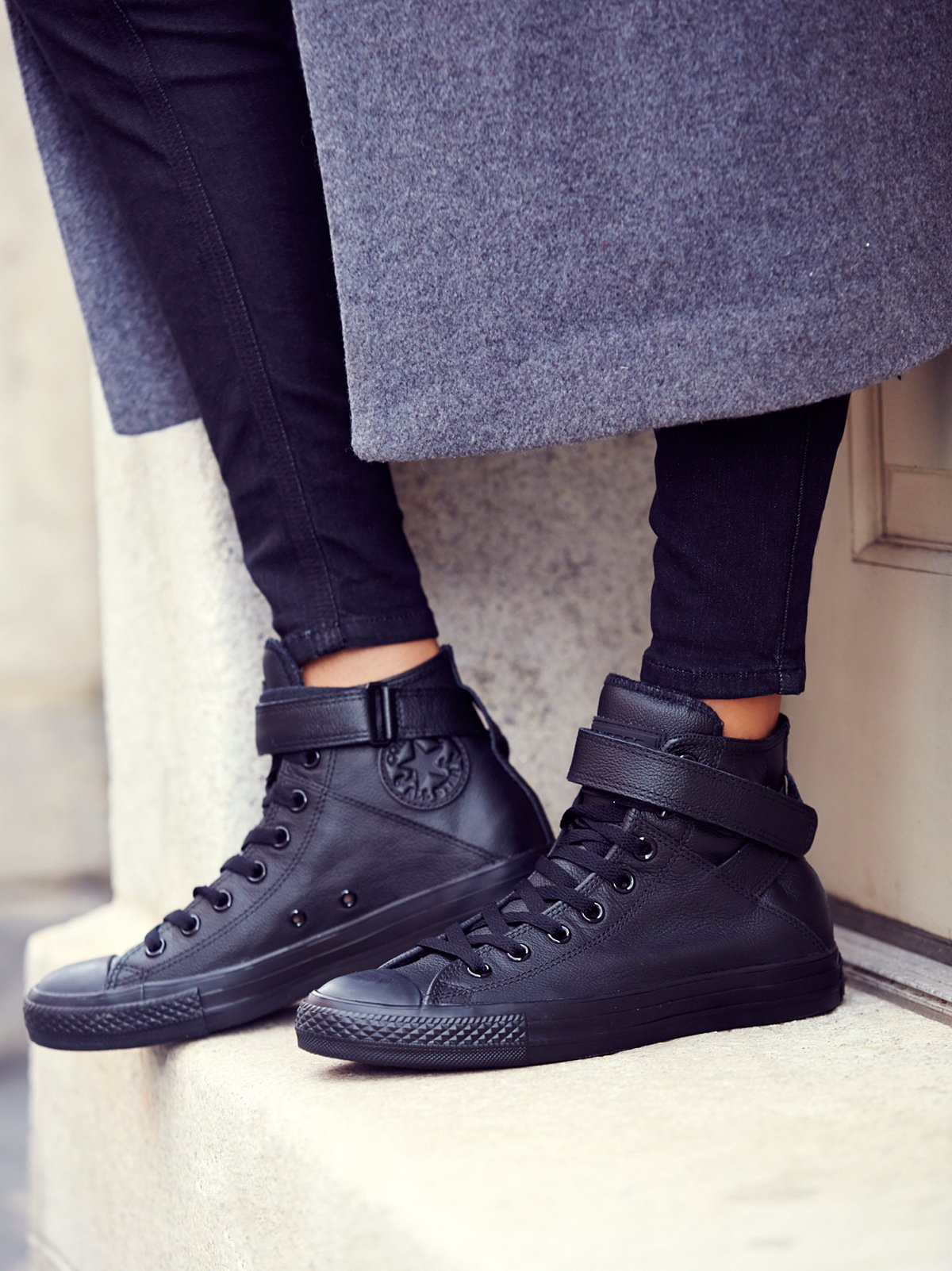 Mono Leather High Top Chuck