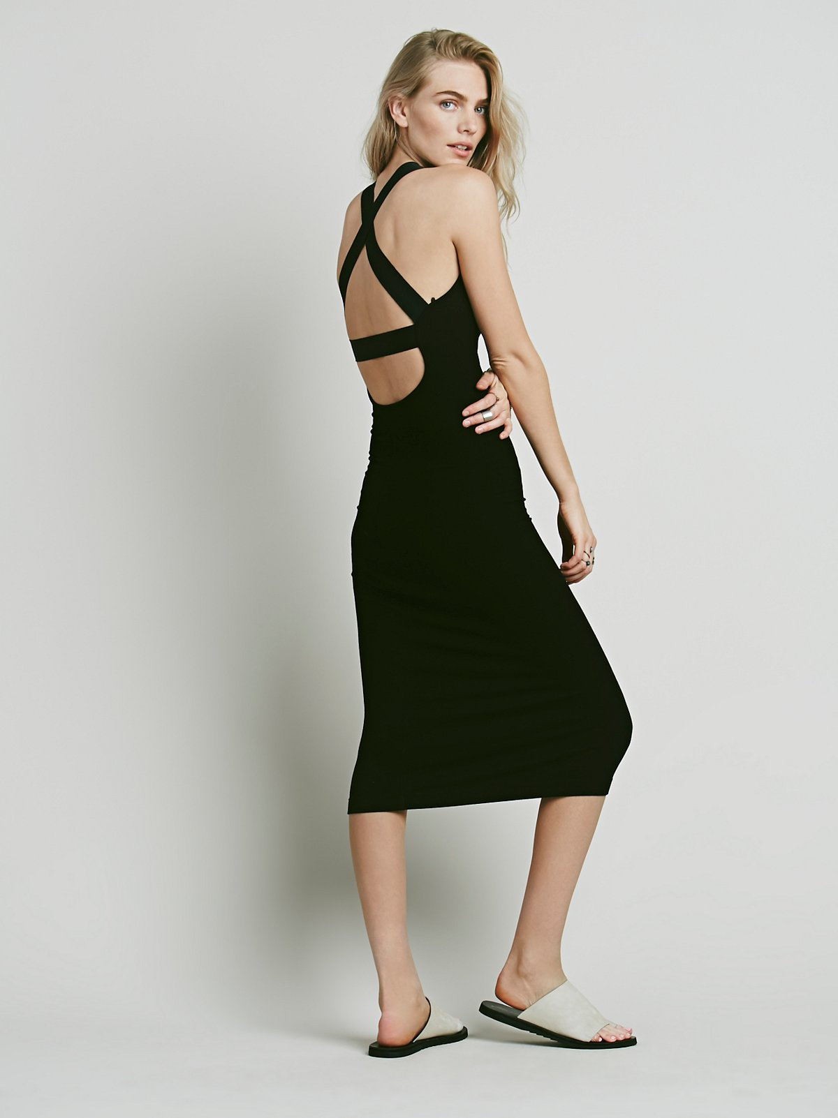 Cross Back Rib Dress