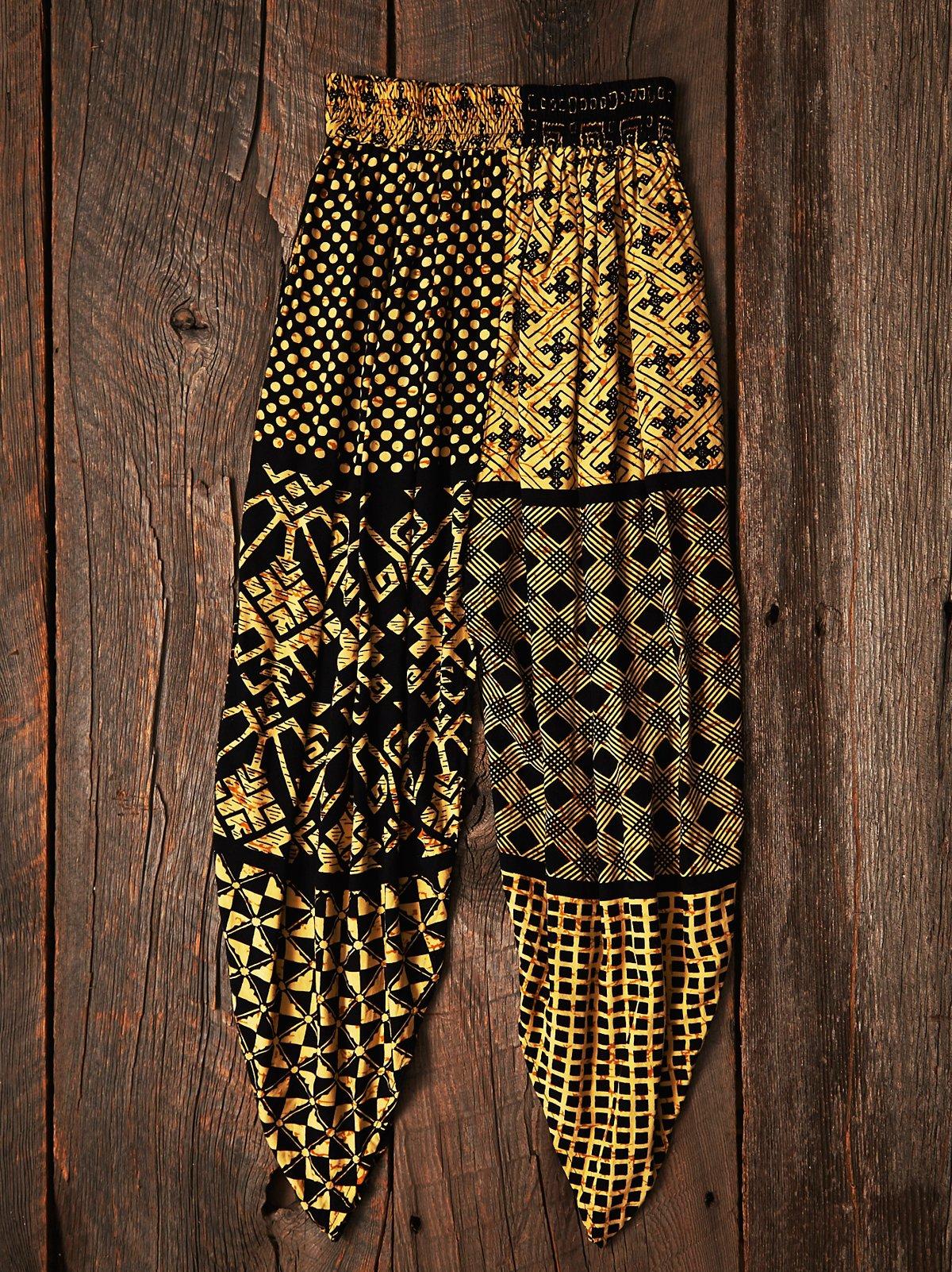 Vintage Batik Harem Pants