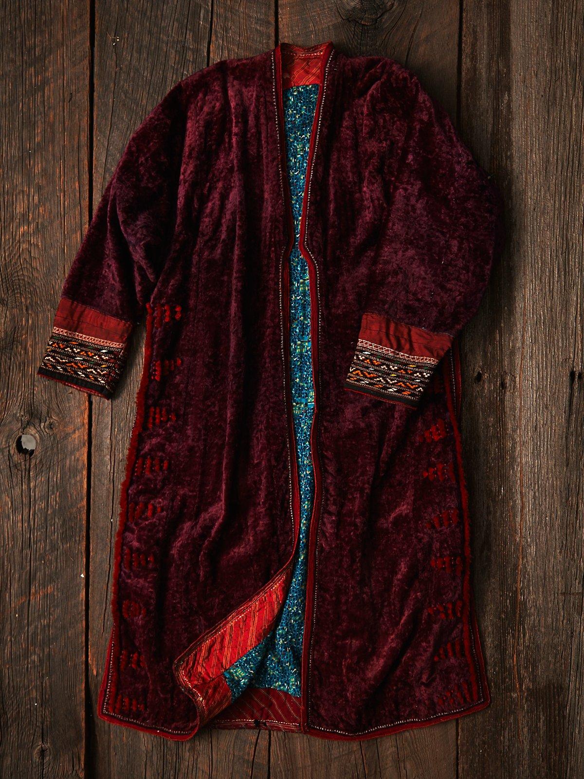 Vintage Embroidered Velvet Jacket