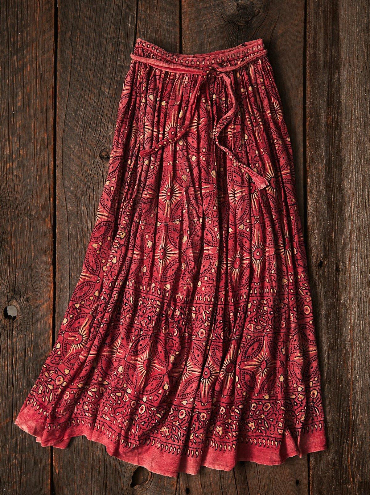 Vintage Paisley Wrap Skirt