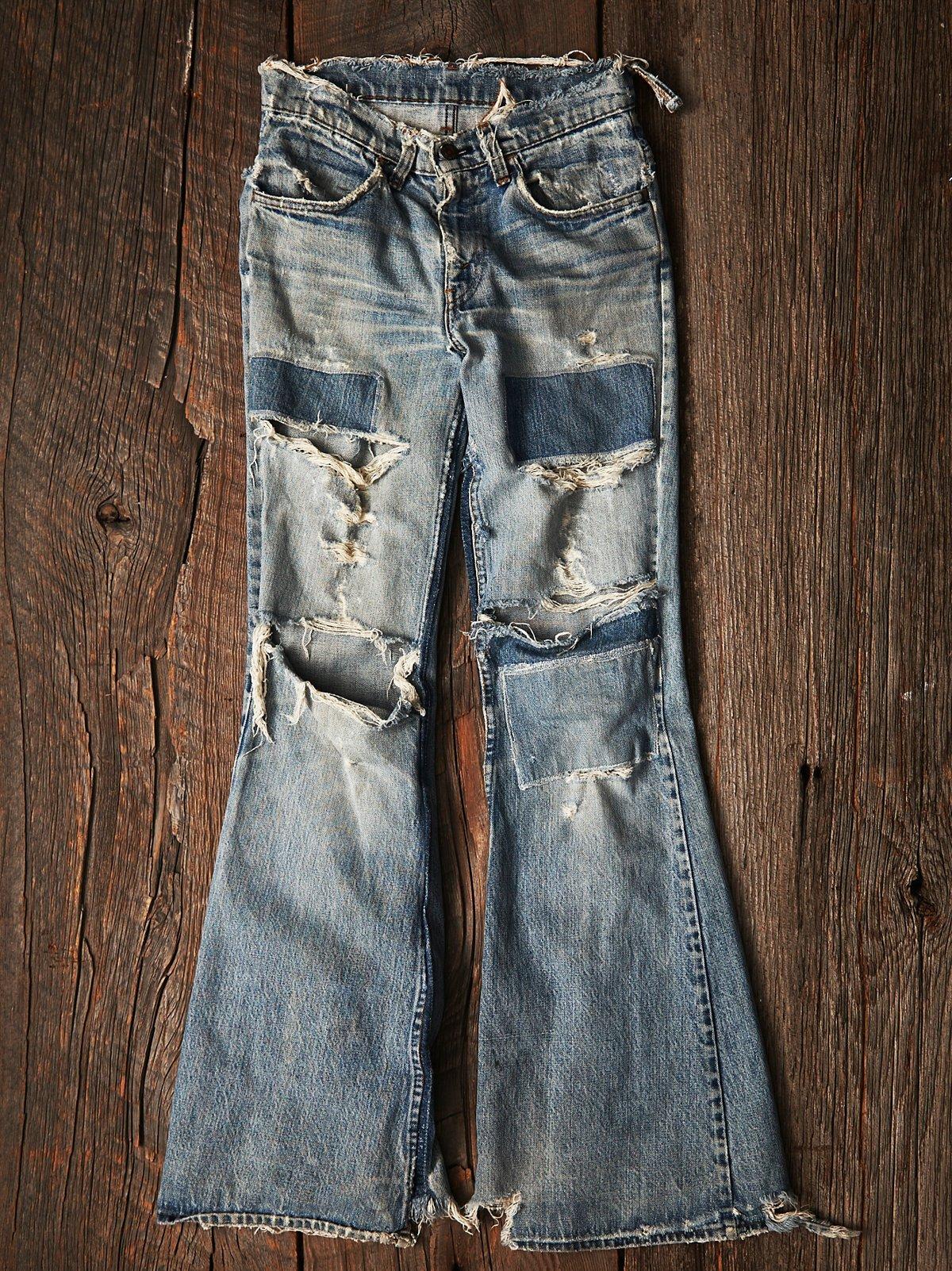 Vintage 1970s Patchwork Jean