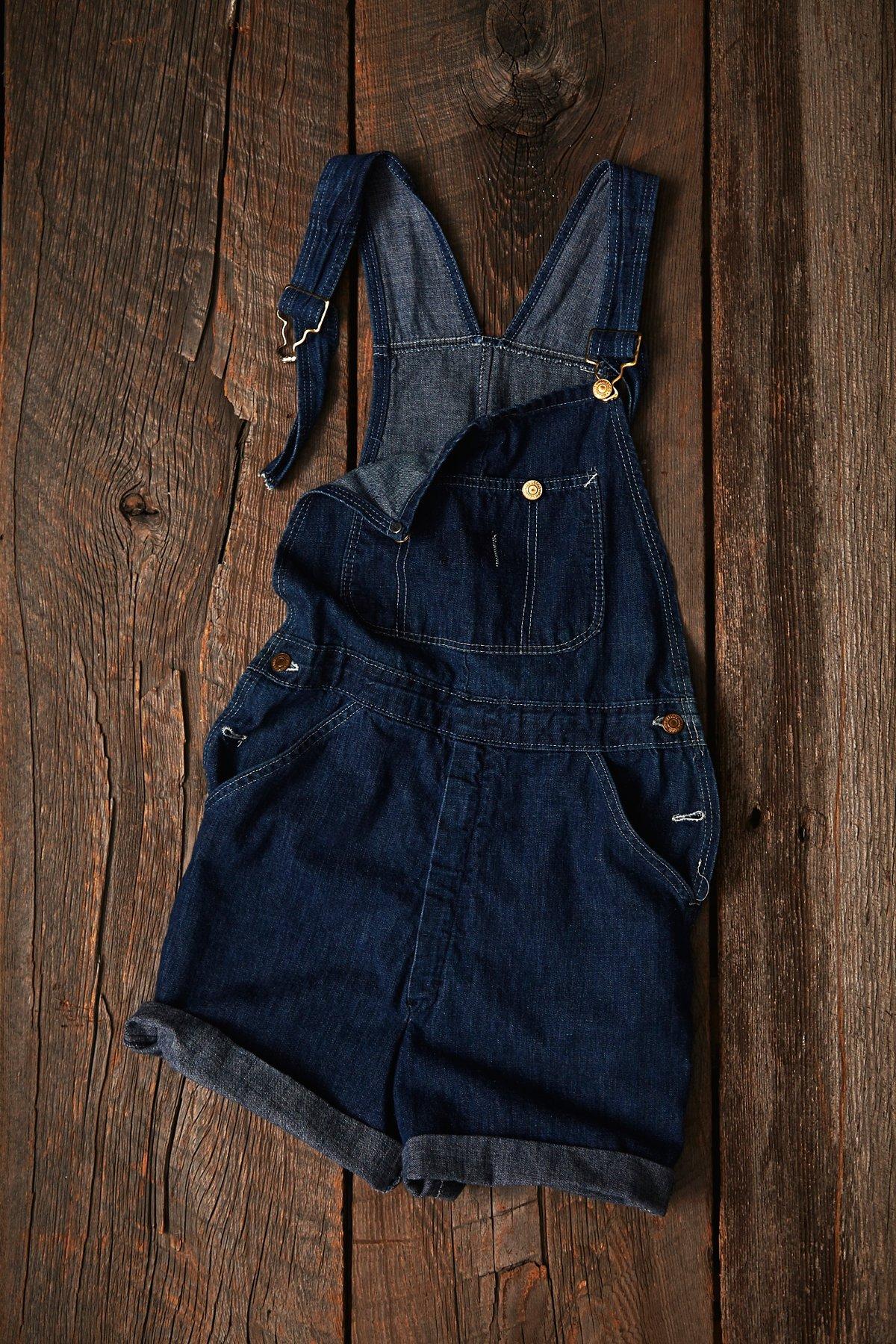 Vintage Denim Shortalls