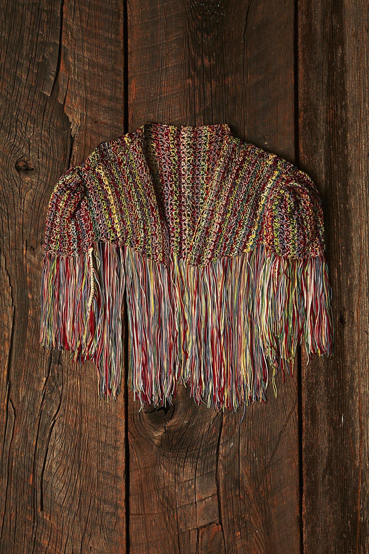 Vintage Crochet Fringe Top