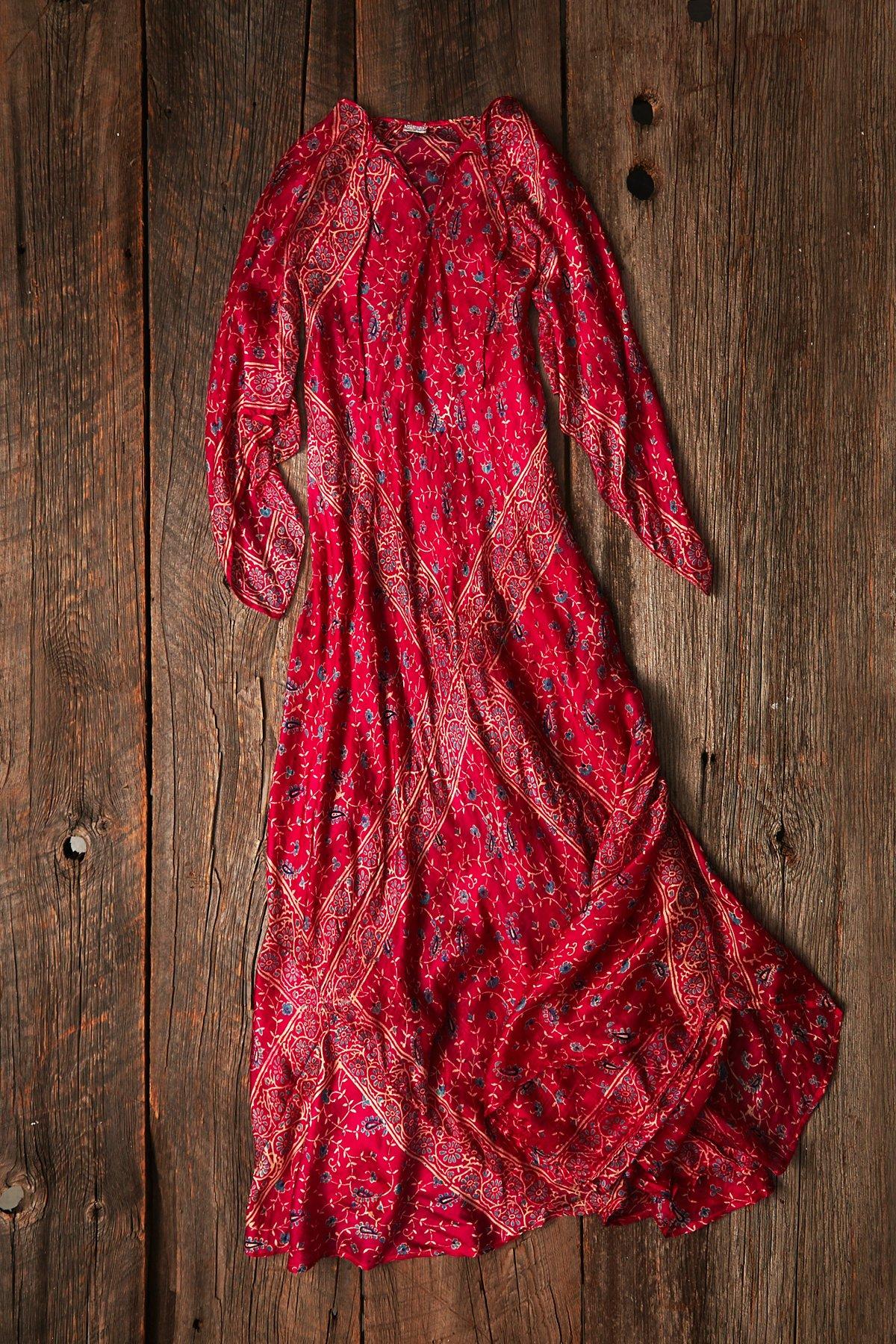 Vintage Paisley Printed Dress