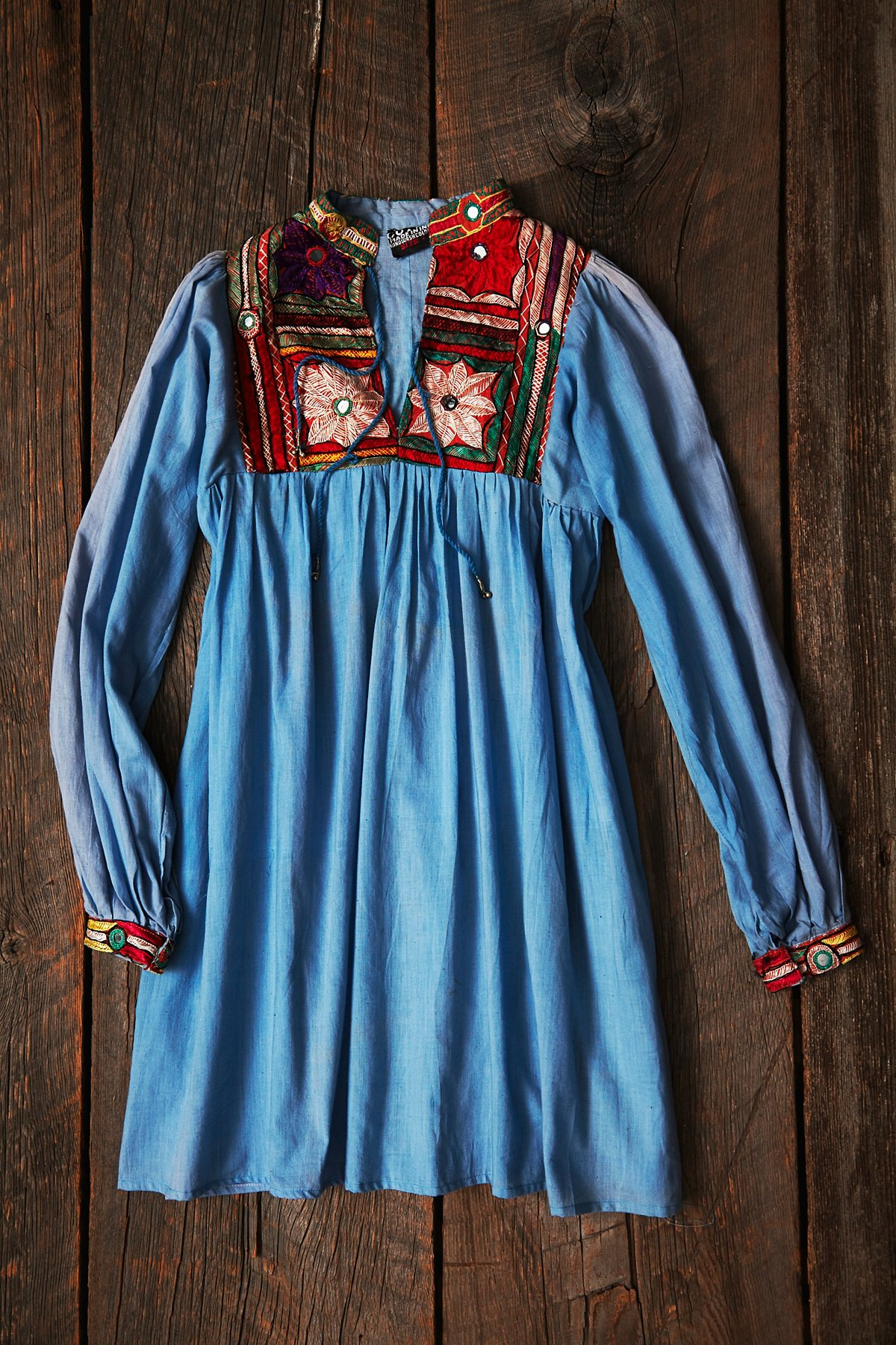 Vintage Embroidered Overdyed Dress