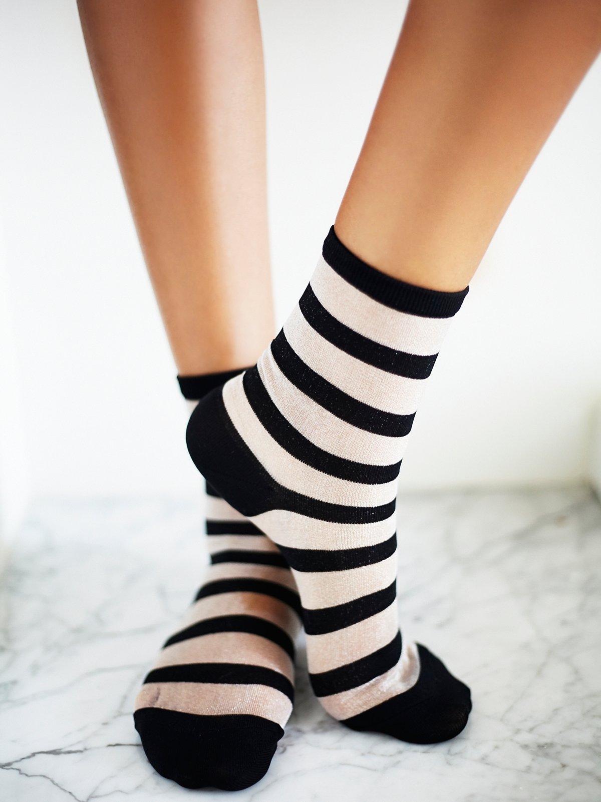 Stripe Mono Anklet