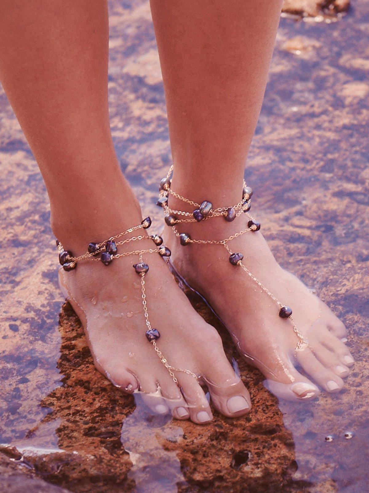 Ariel Pearl Anklet