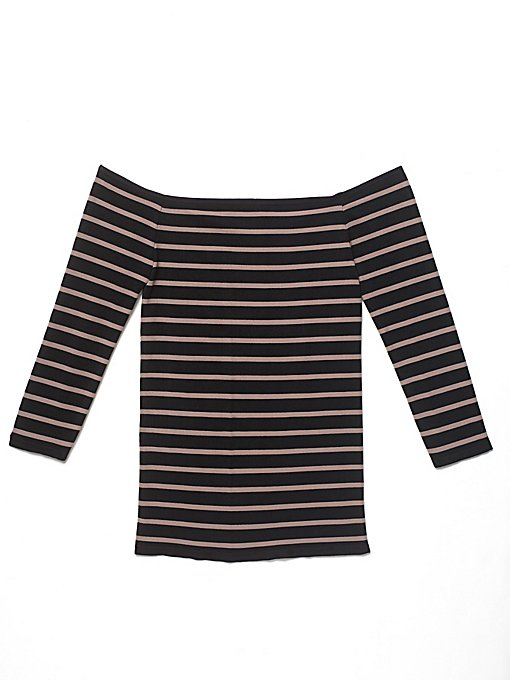 Product Image: Off The Shoulder Striped Seamless Top
